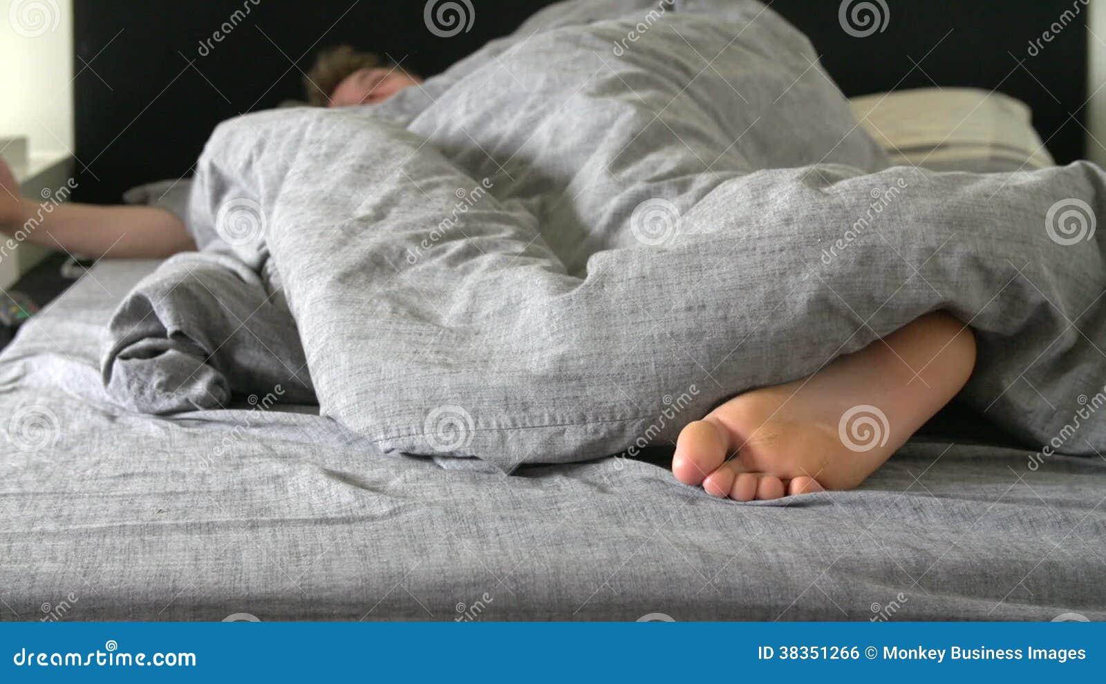 Schön Bett Teenager Foto Von