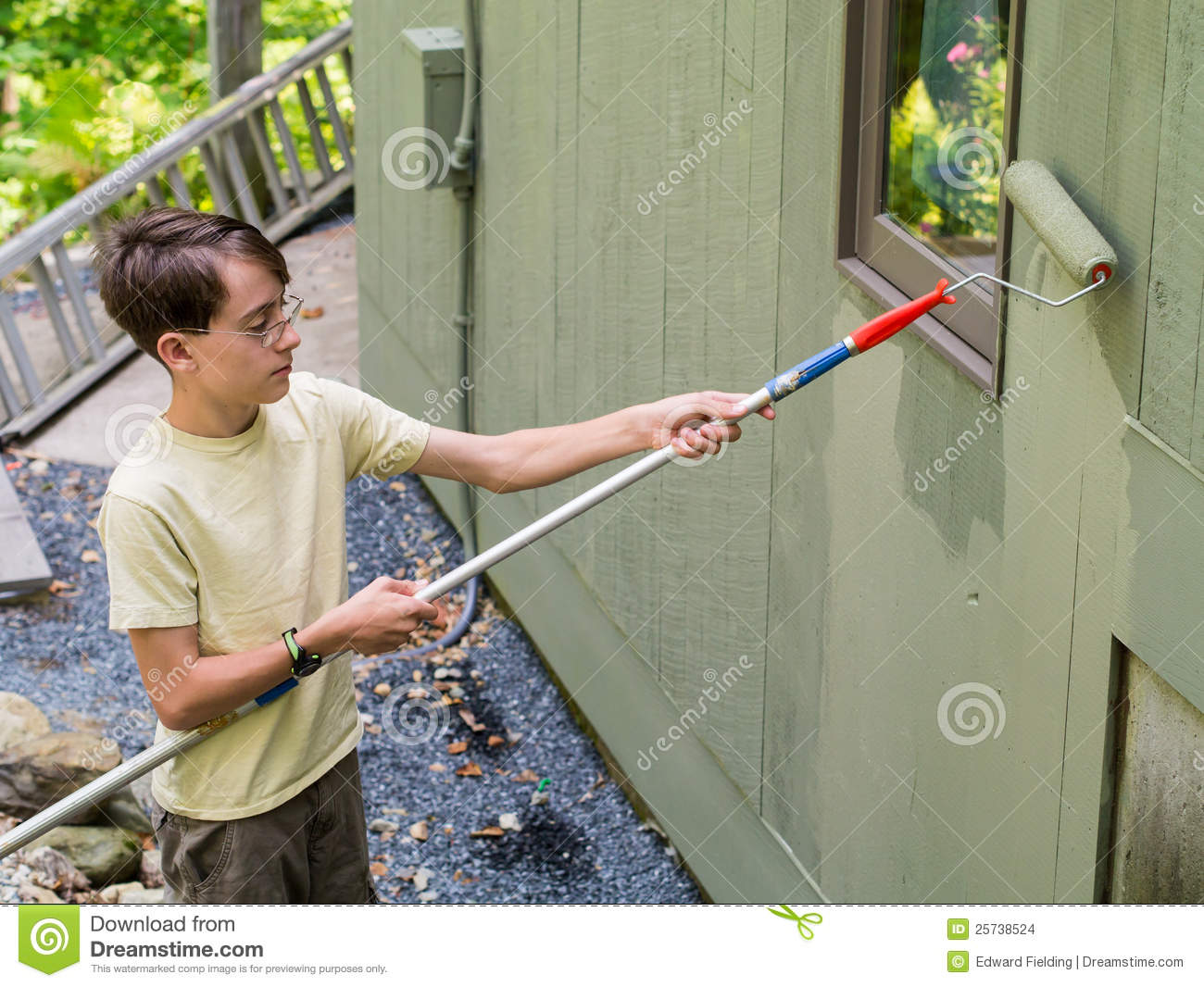 teenager summer job painting the house stock images image 25738524 teenager summer job painting the house