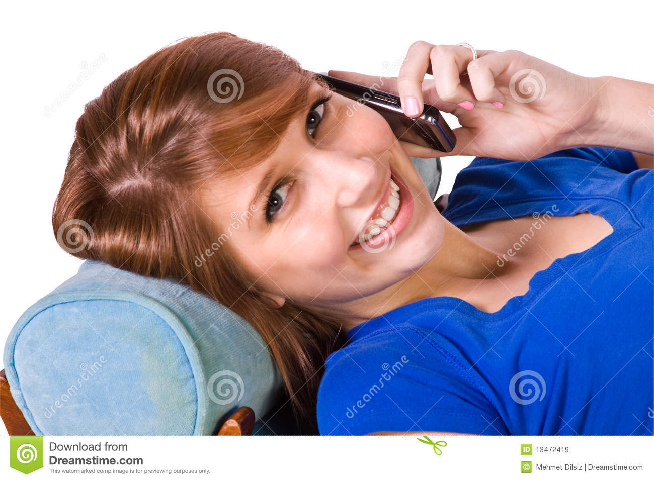 Teenager Talking On The Cell Phone Royalty Free Stock ...