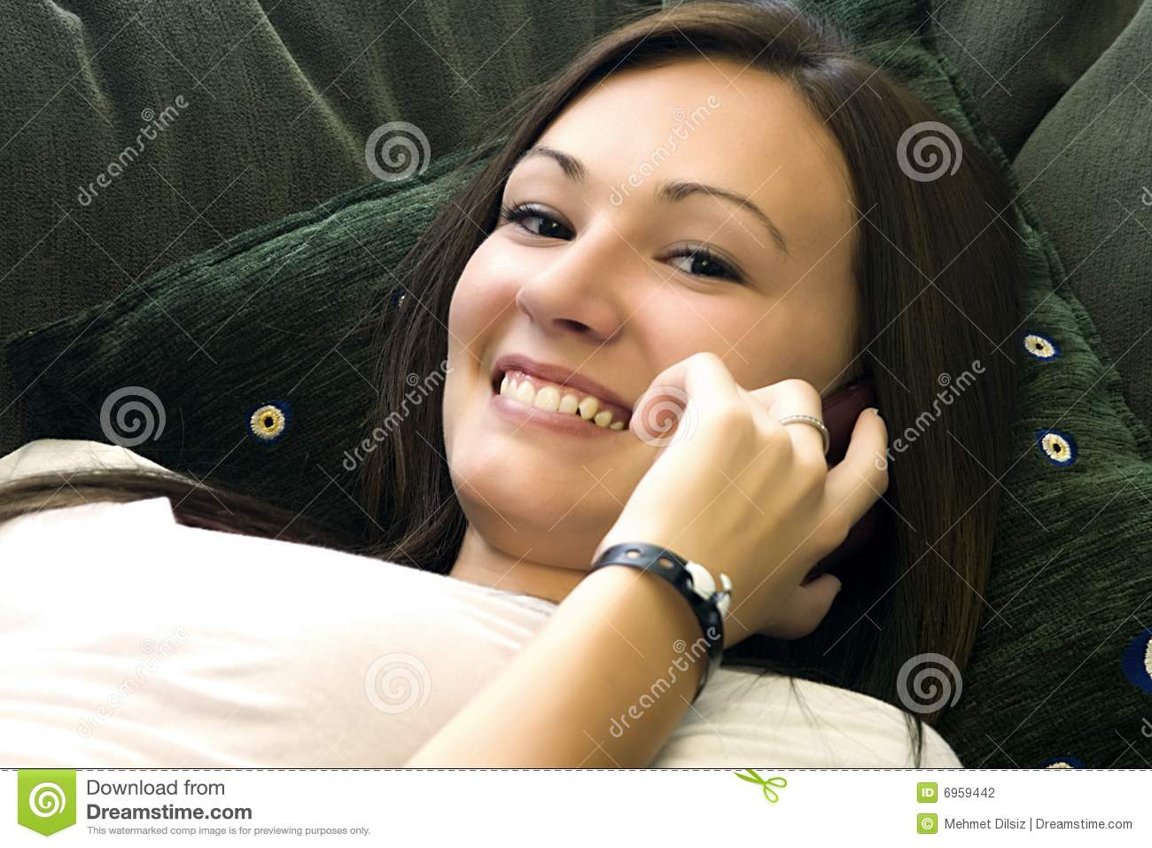 Teenager Talking On The Cell Phone Stock Photography ...