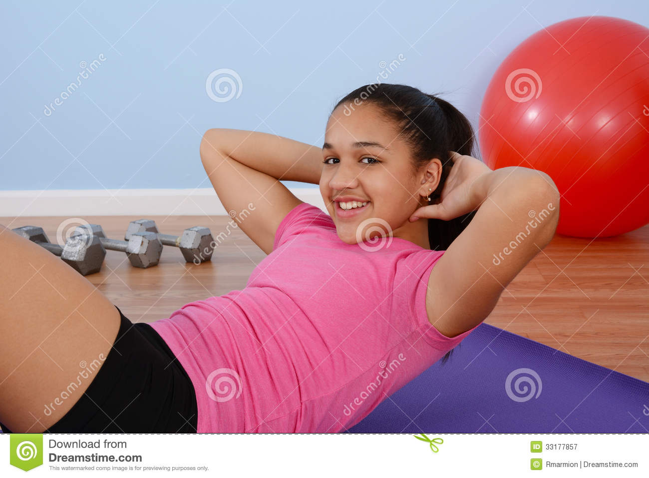 Teen Working Out 4