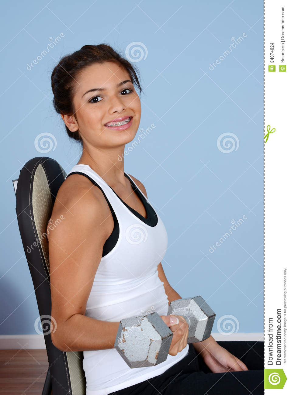 Teen Working Out 77