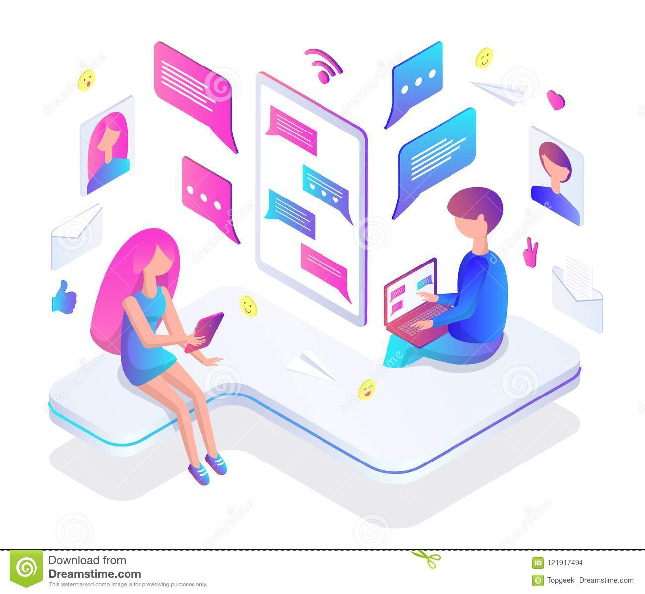 Online chatting for teens
