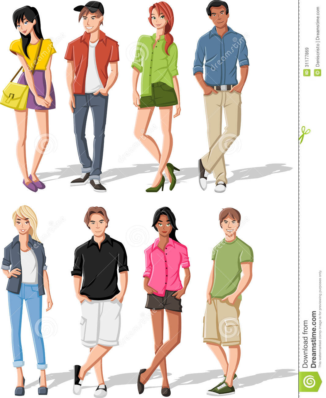 Teenagers Stock Vector Illustration Of Illustration 31177869