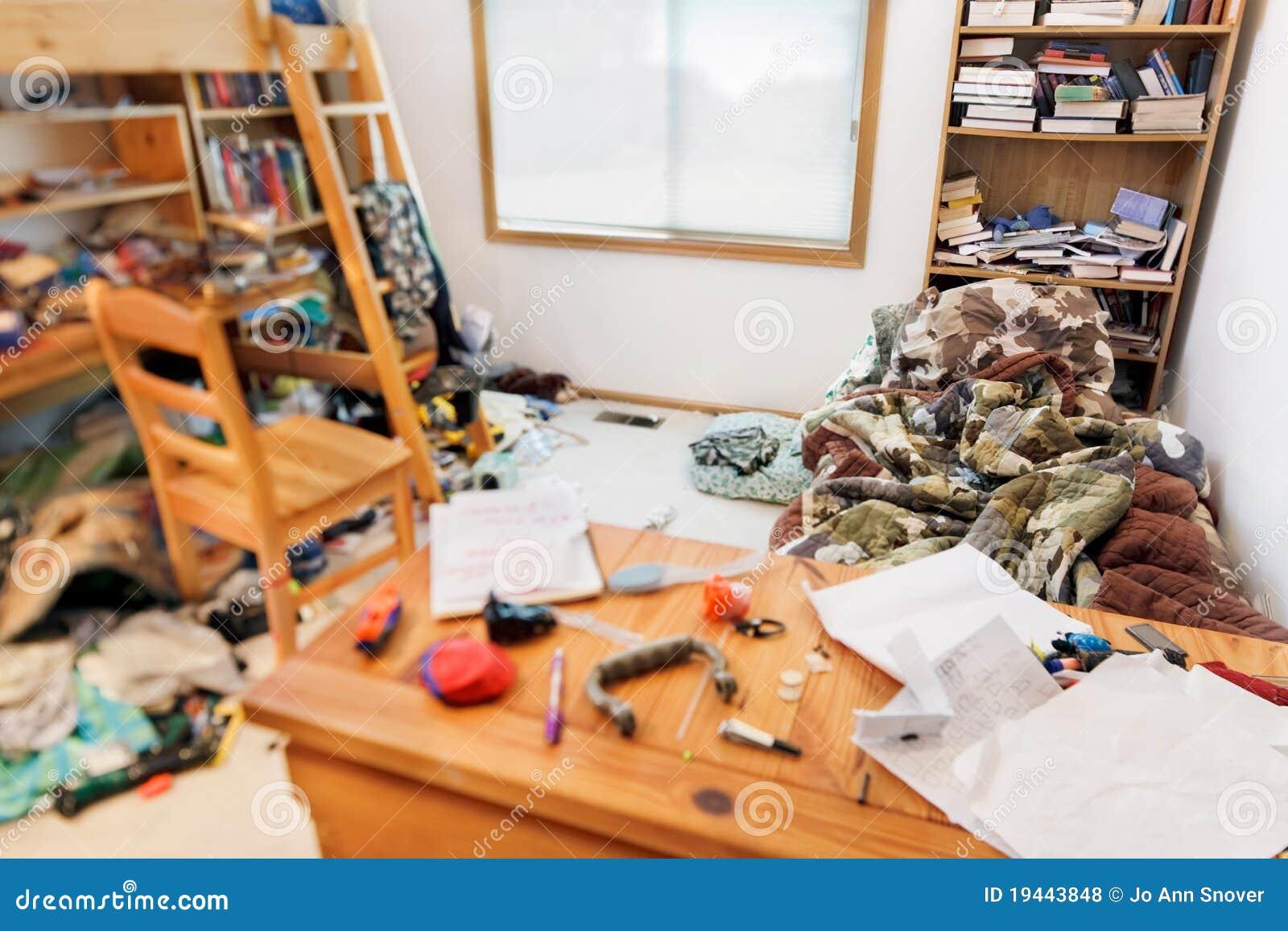 Teenagers messy room
