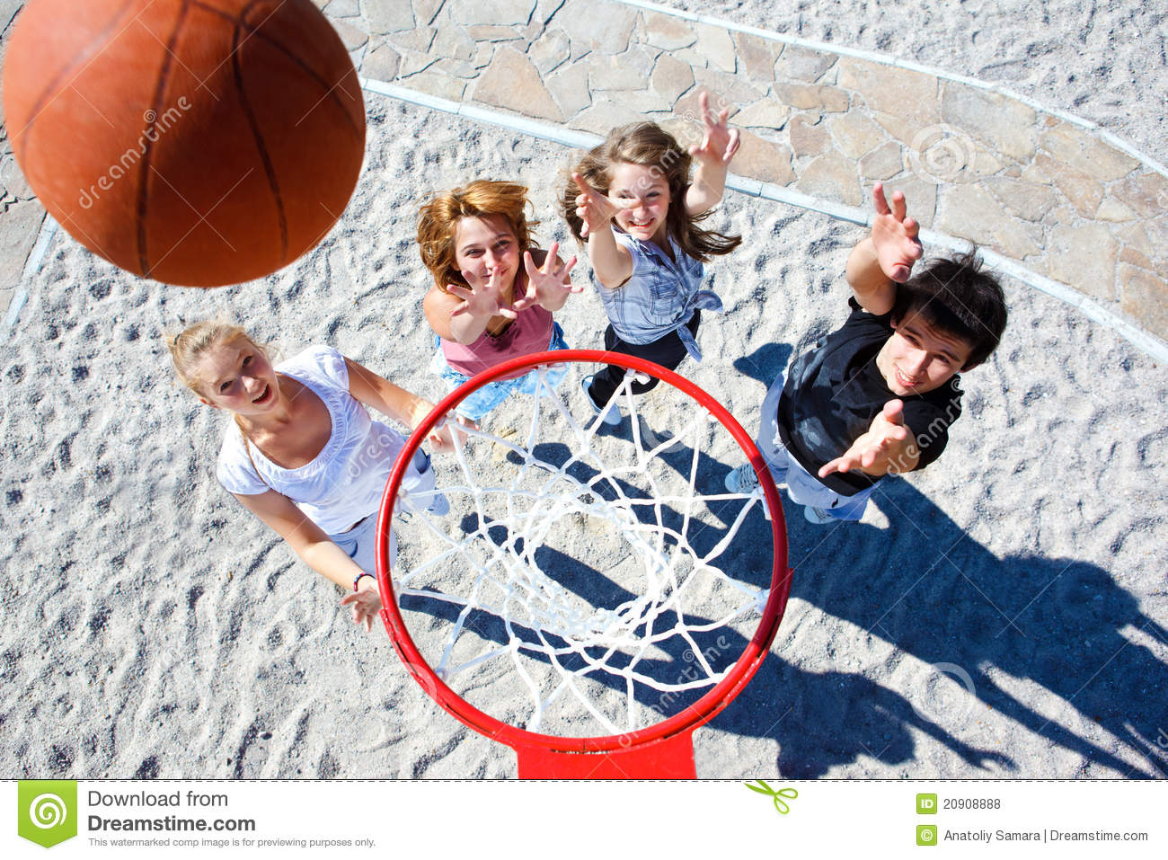 Teenagers Playing Basketball Royalty Free Stock Photos - Image ...