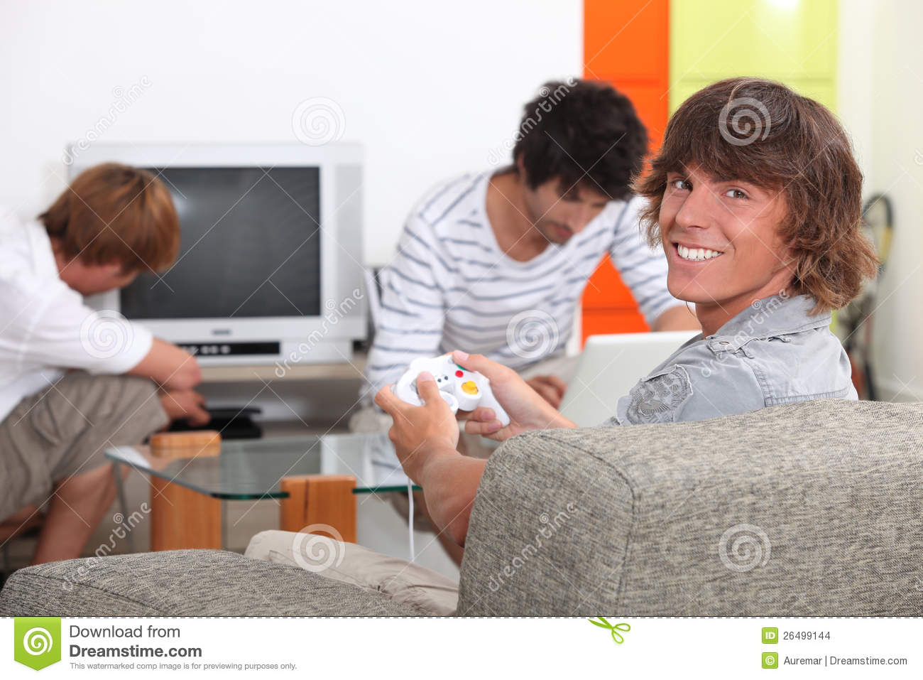 Teenagers Relaxing At Home Stock Images Image 26499144