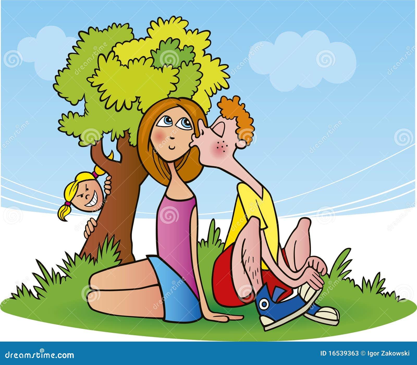 Teens in love stock vector. Illustration of love, girl ...