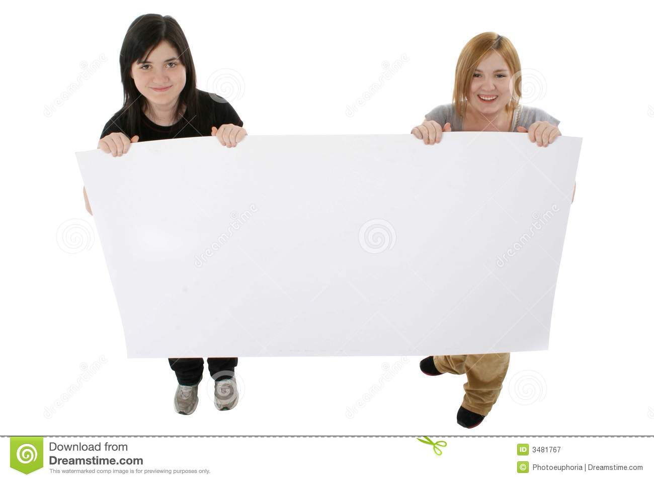 Teens with Poster