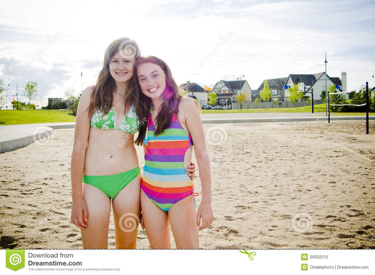 teens beach at Young bikinis in