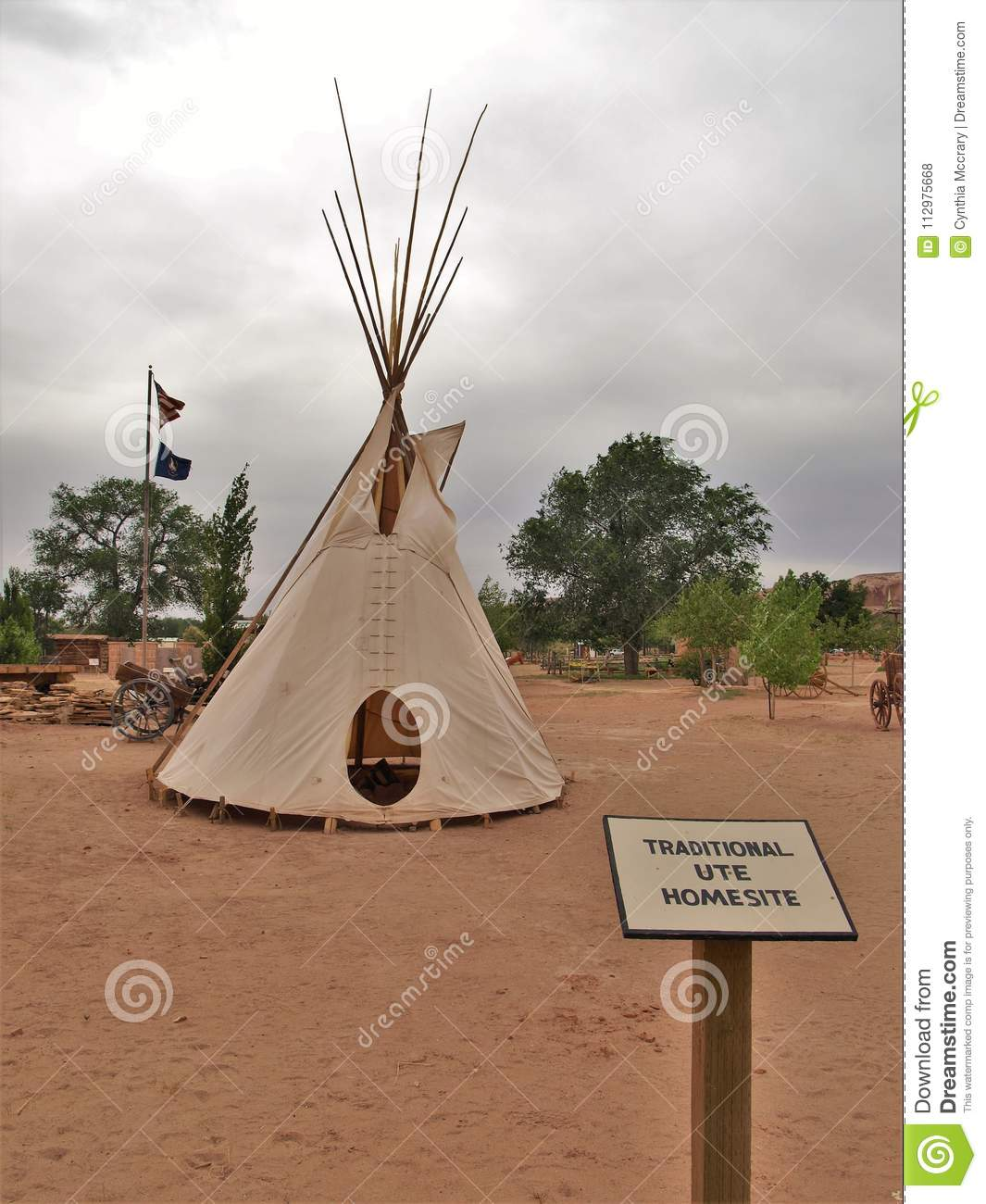 Teepee at Bluff Fort Historic Site in Bluff, Utah