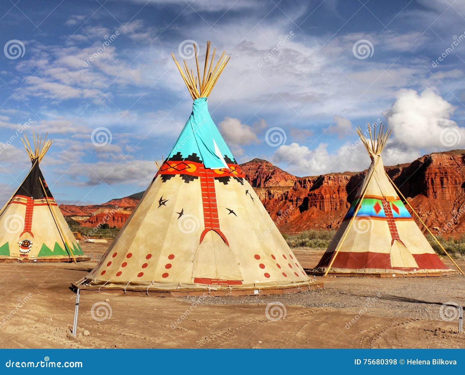 teepee wigwam indian tents editorial stock photo image