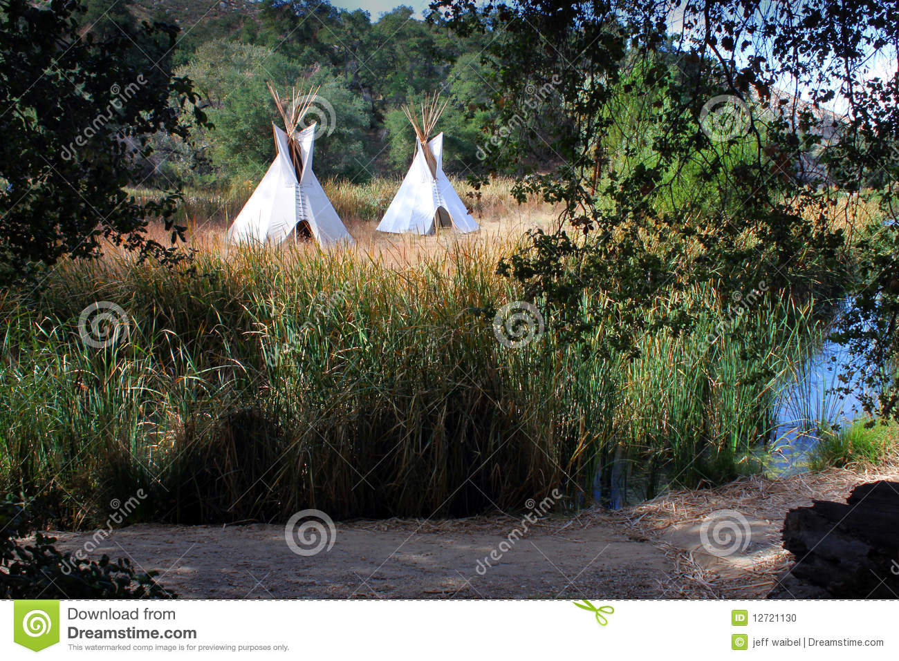 Teepees in Western setting