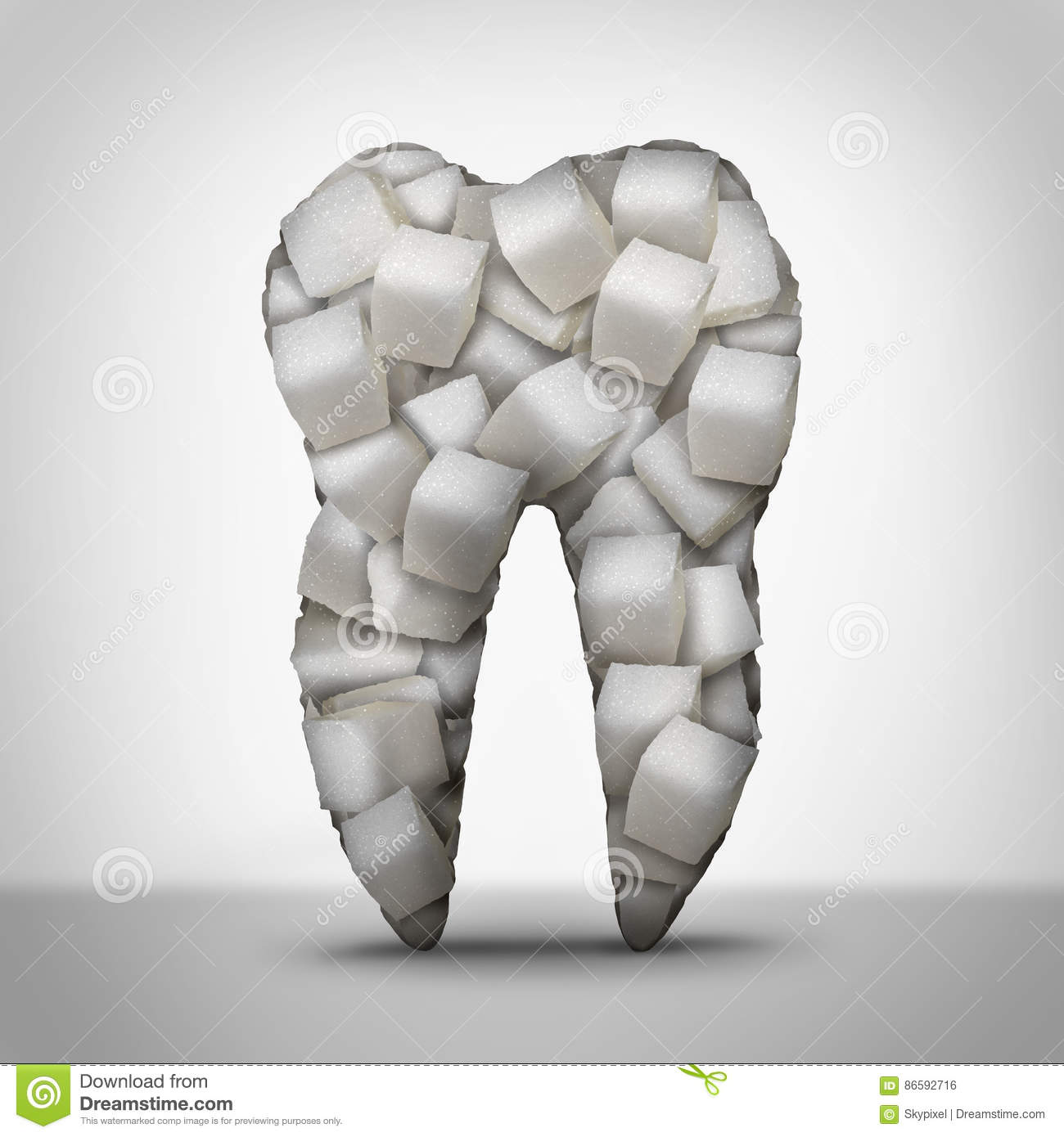 Teeth Sugar Stock Illustration Illustration Of Cavities 86592716