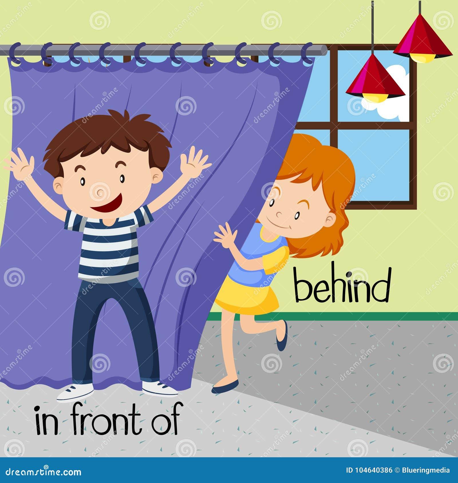 Download Tegenovergestelde Woorden Voor Erachter En Voor Vector Illustratie - Illustratie bestaande uit lezing, woord: 104640386