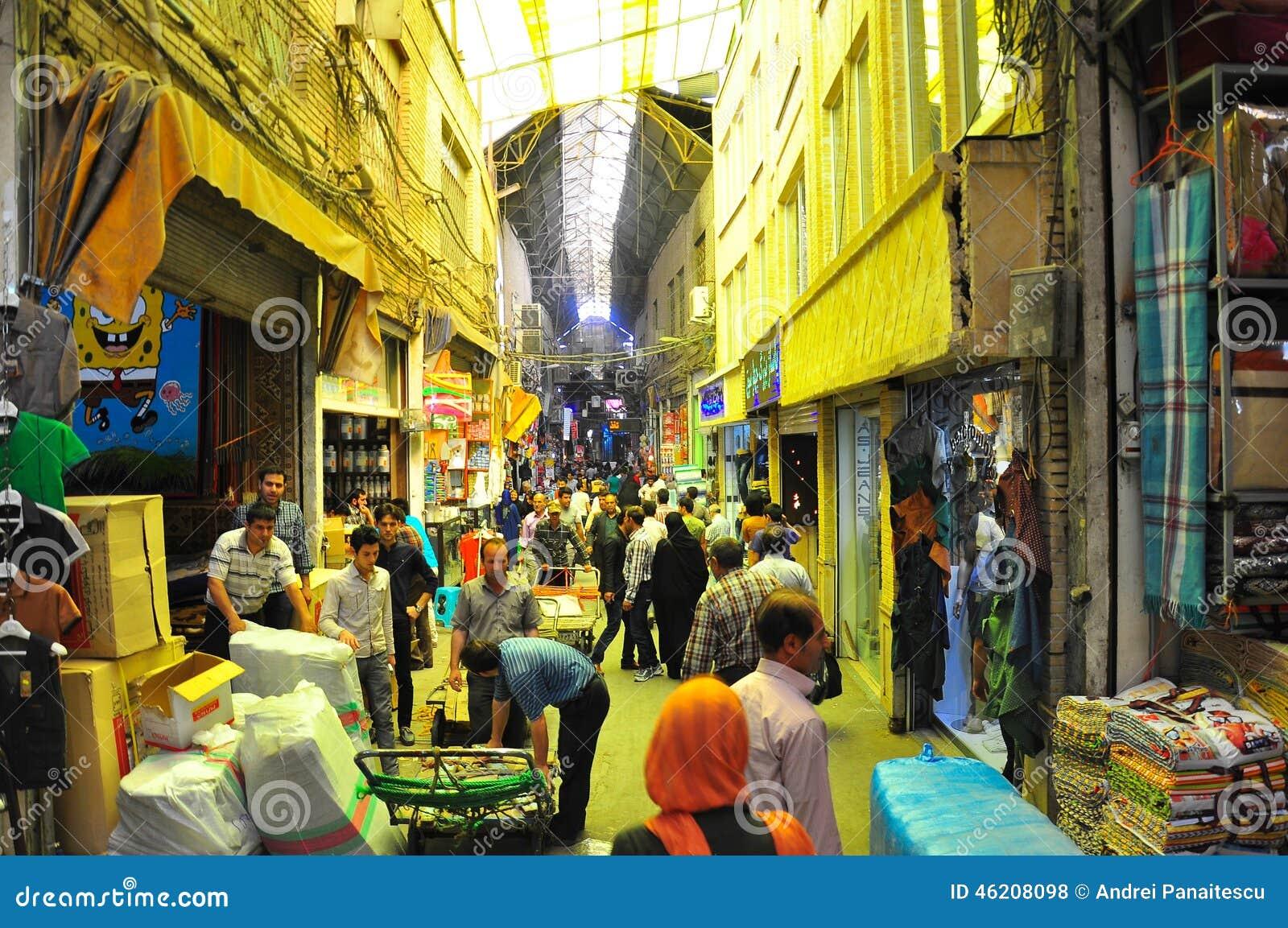 Download TEHRAN BAAZAR editorial stock photo. Image of light, baazar - 46208098