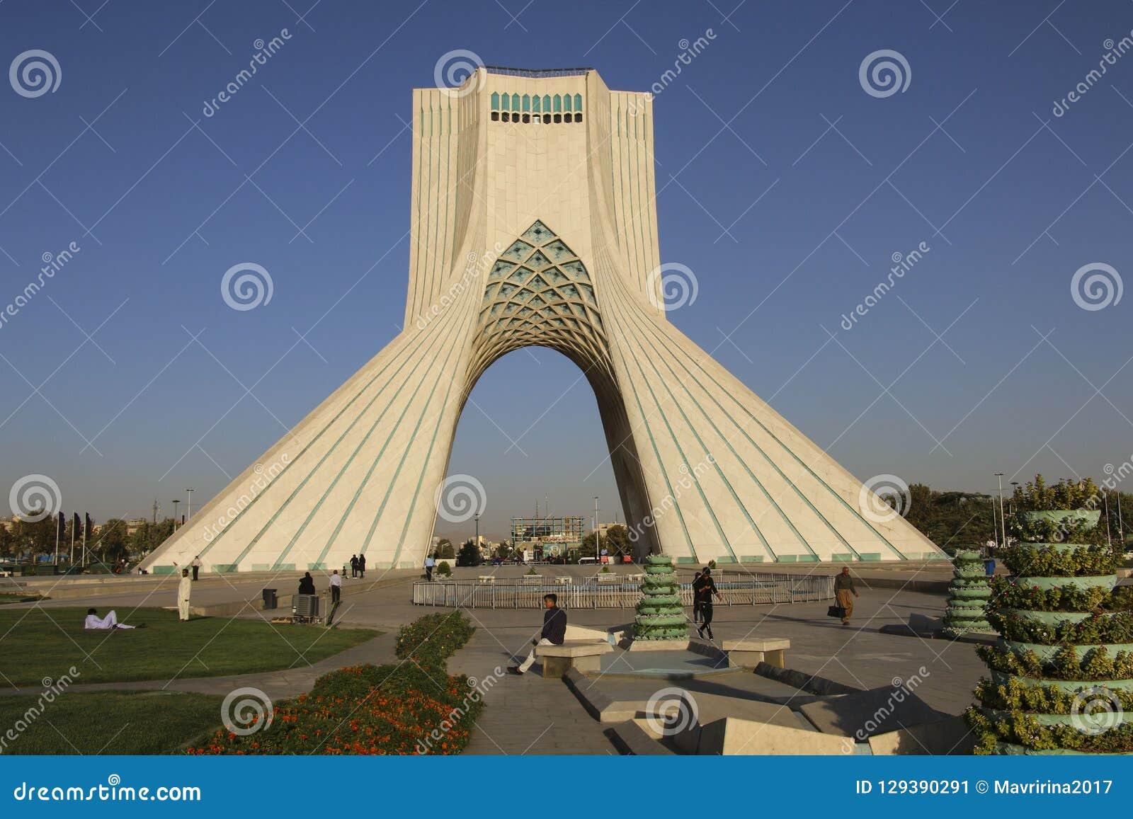 TEHRAN, IRAN - SEPTEMBER 17, 2018: Azadi Tower known as the Shah