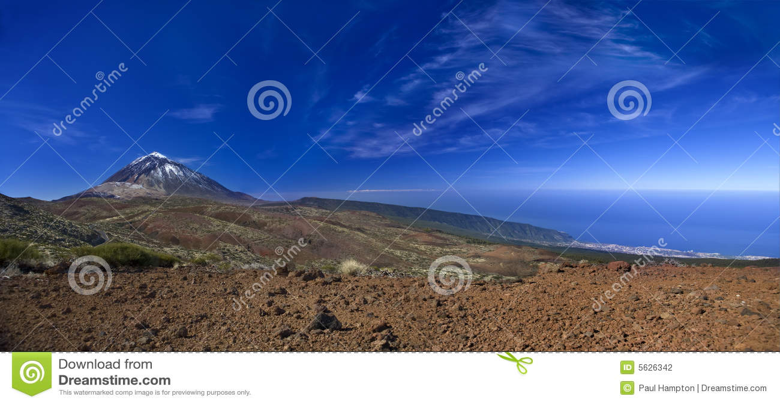 Teide blue mountain