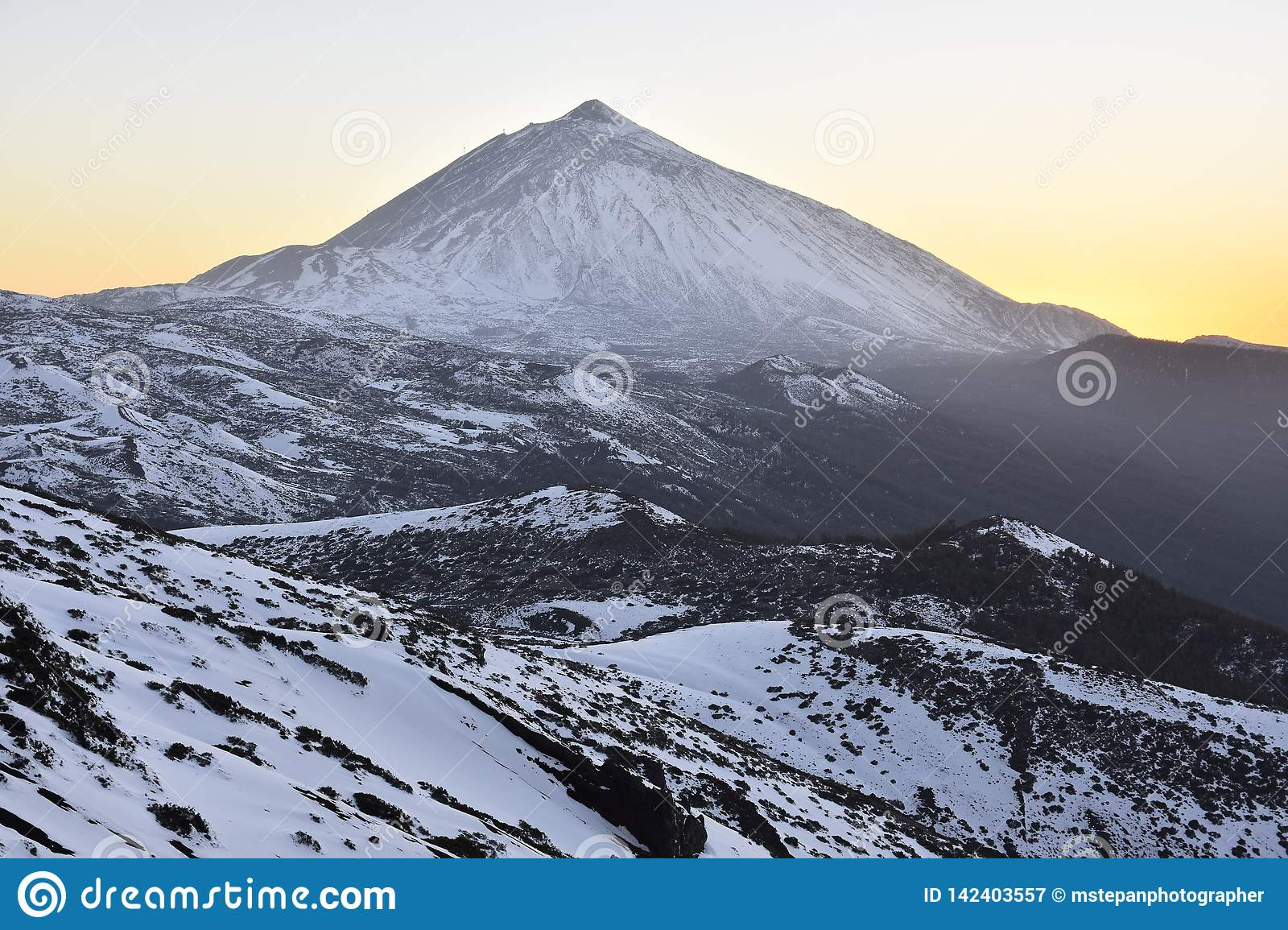 Teide National Park in winter Tenerife Canary Islands