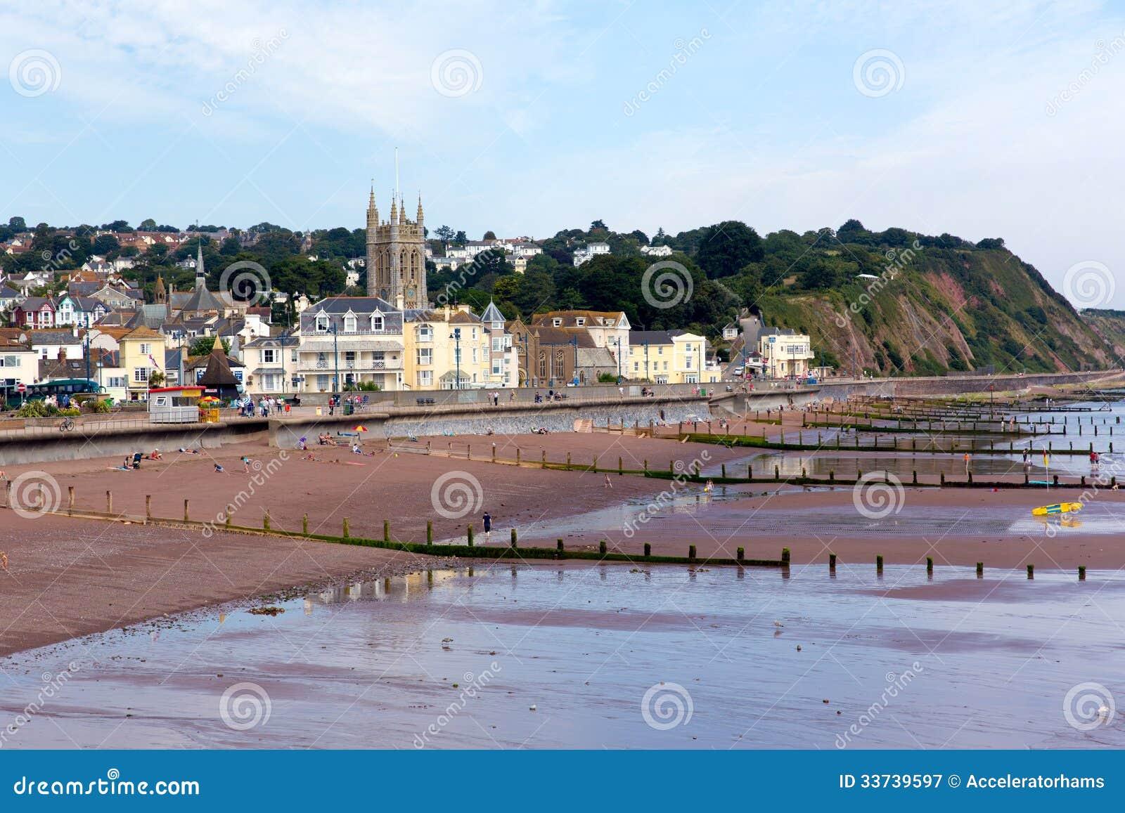 Teignmouth镇和海滩德文郡英国
