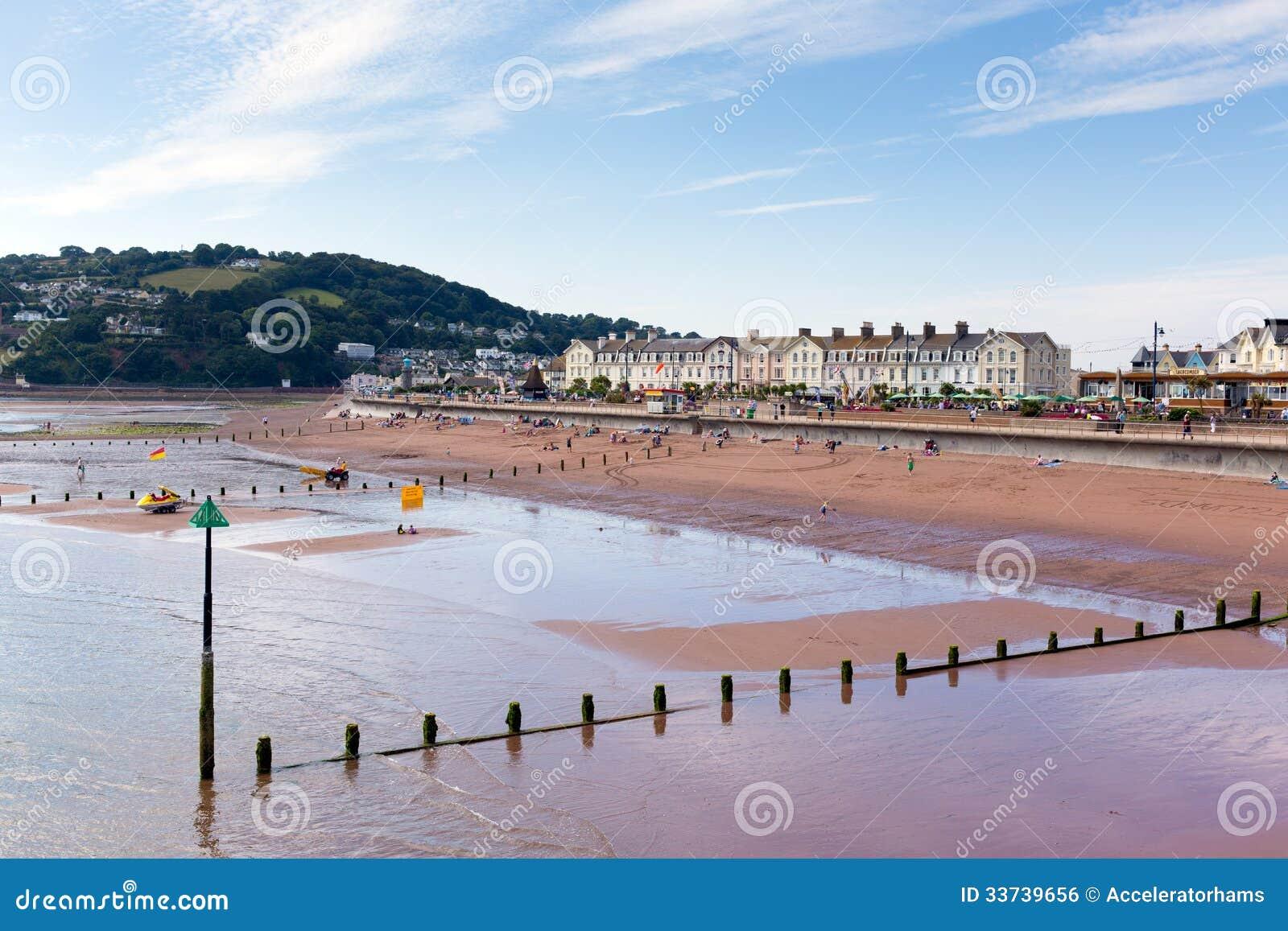 Teignmouth-Stadt und Strand Devon England