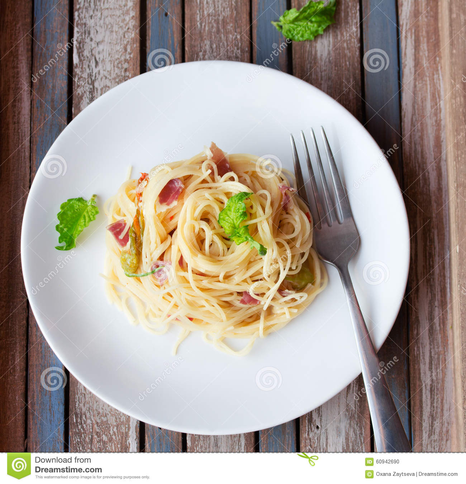 Teigwaren mit Prosciutto