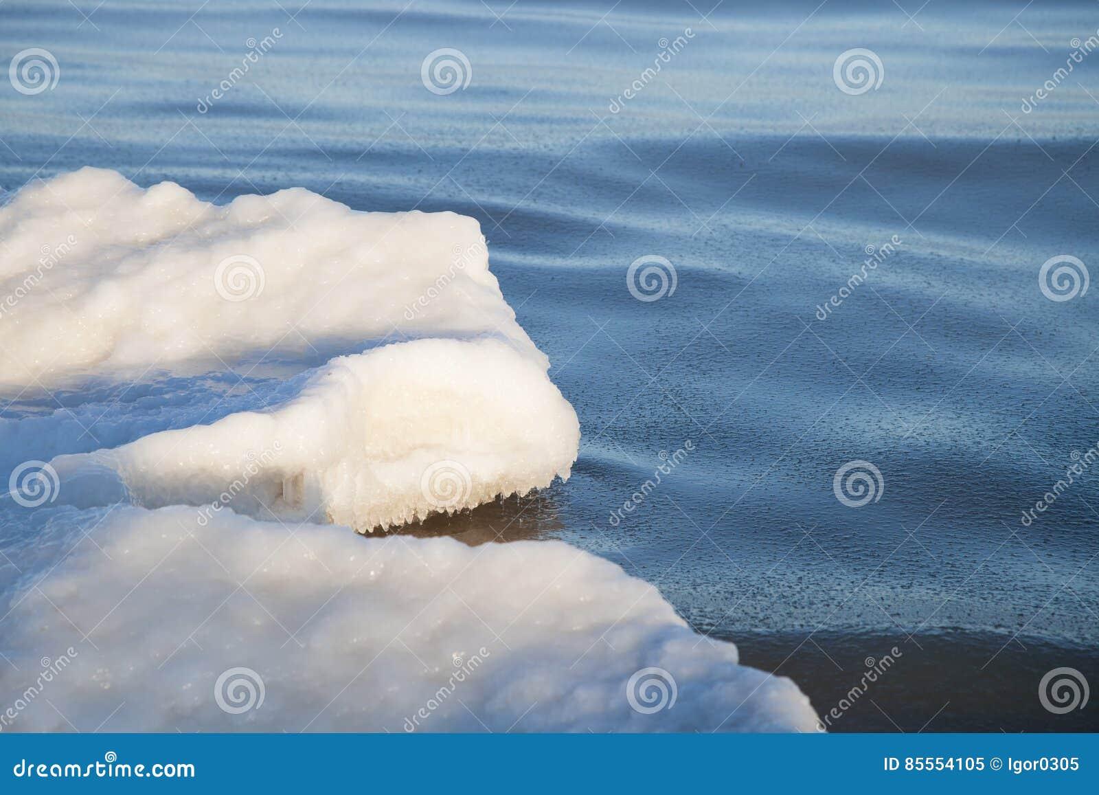 Teil der Eisscholle