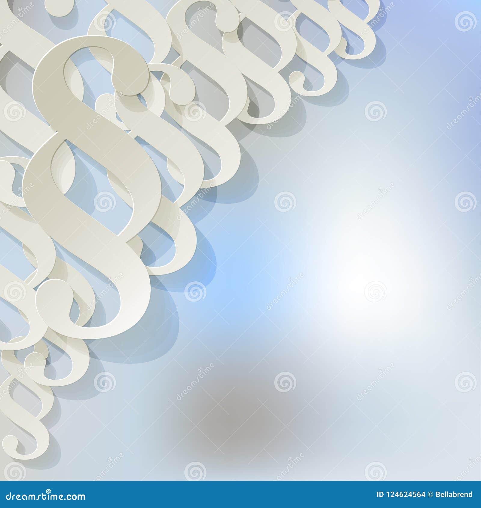 Teilen Sie Weißes Symbol In Der Ecke Auf Einem Hellblauen