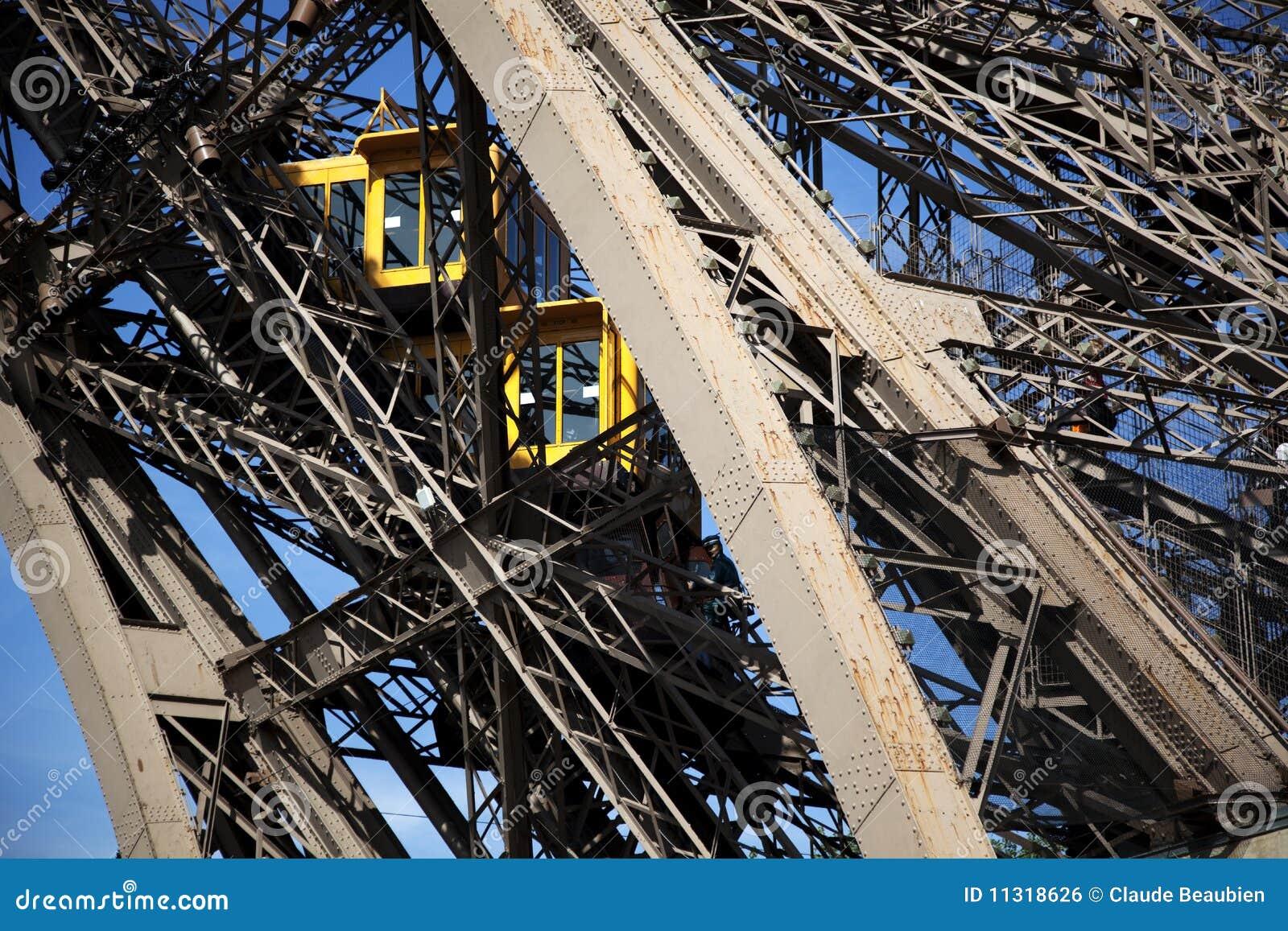 Teilweise Ansicht des Eiffelturm-Höhenruders