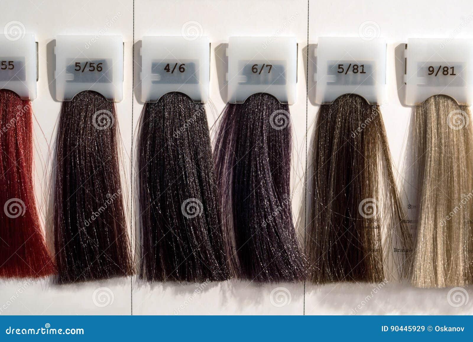 Catalogue de coloration cheveux palette
