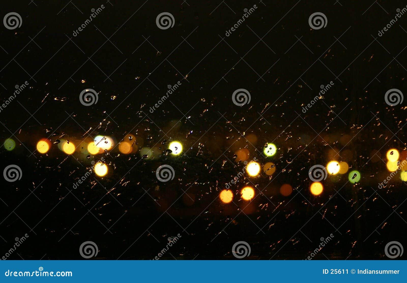 Tej nocy deszcz
