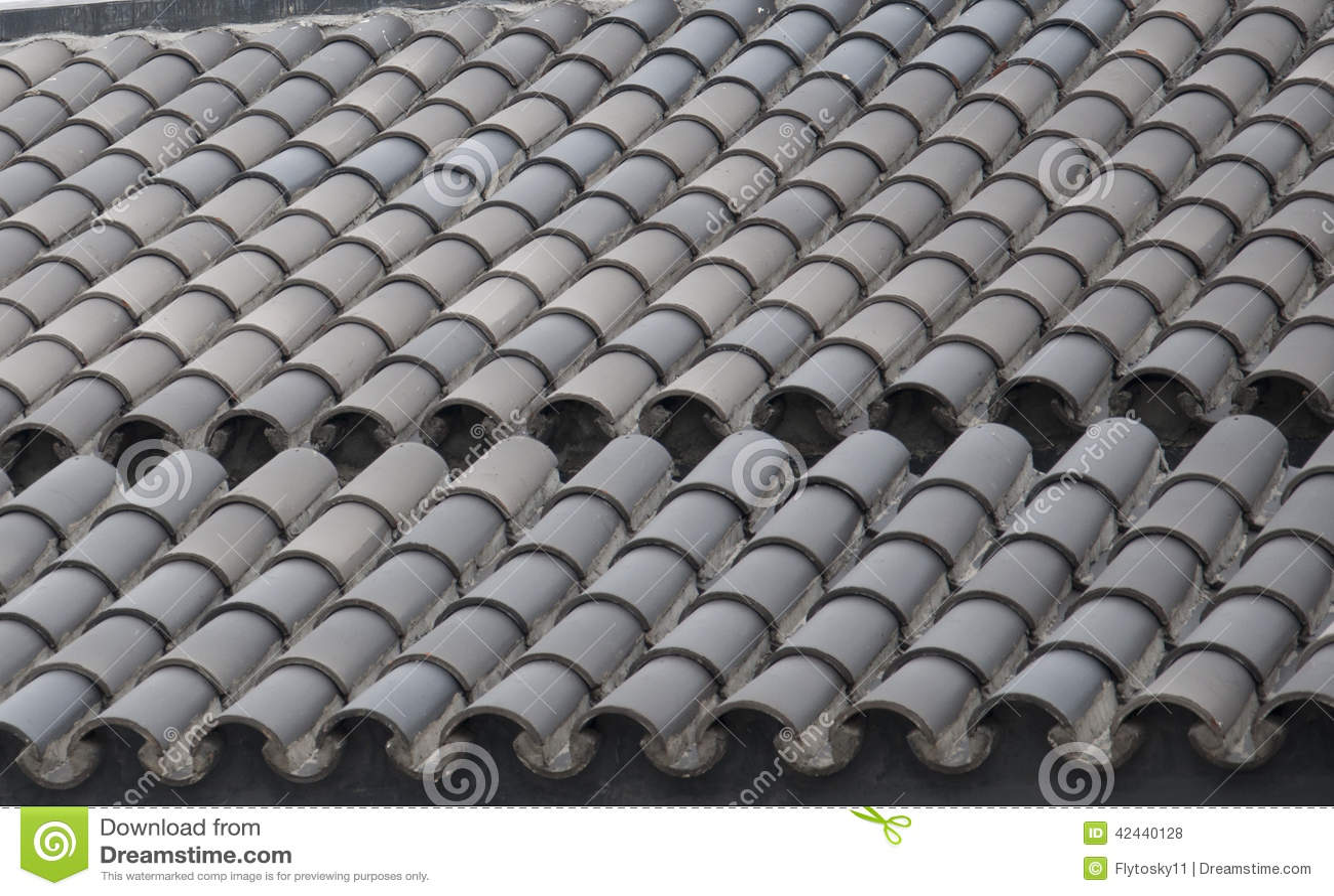 Teja de tejado verde
