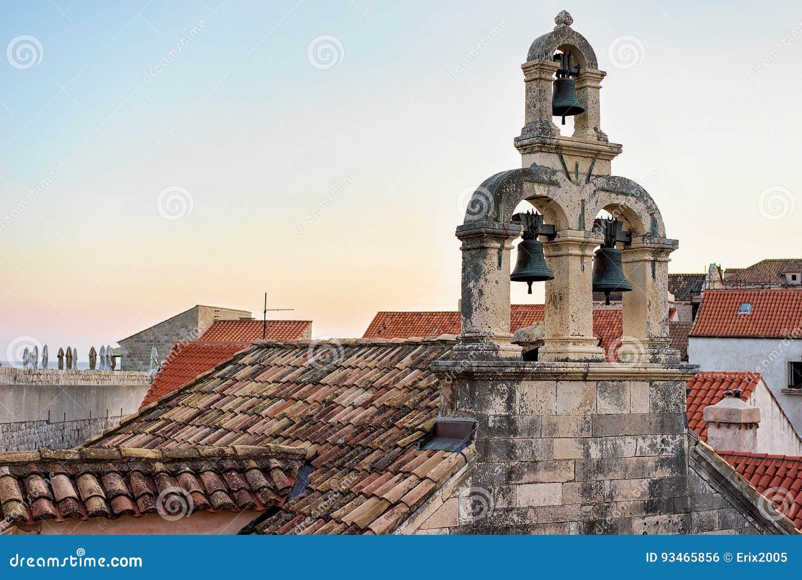 Tejado de la iglesia en Dubrovnik