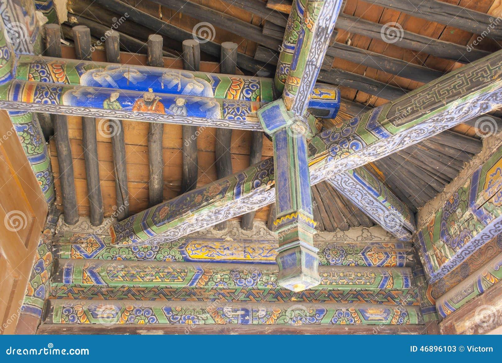 Tejado de madera viejo de la viga transversal foto de for Tejado de madera en ingles