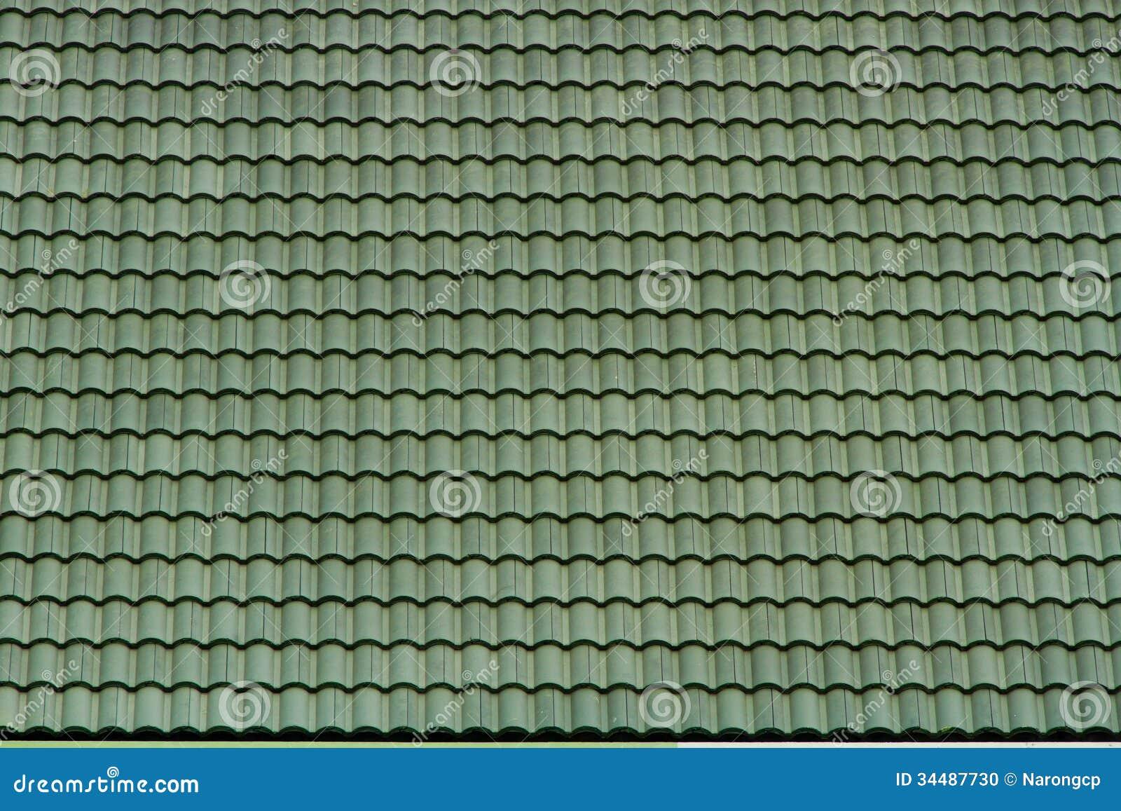 Tejado De Teja Verde Viejo Textura Del Modelo Foto De