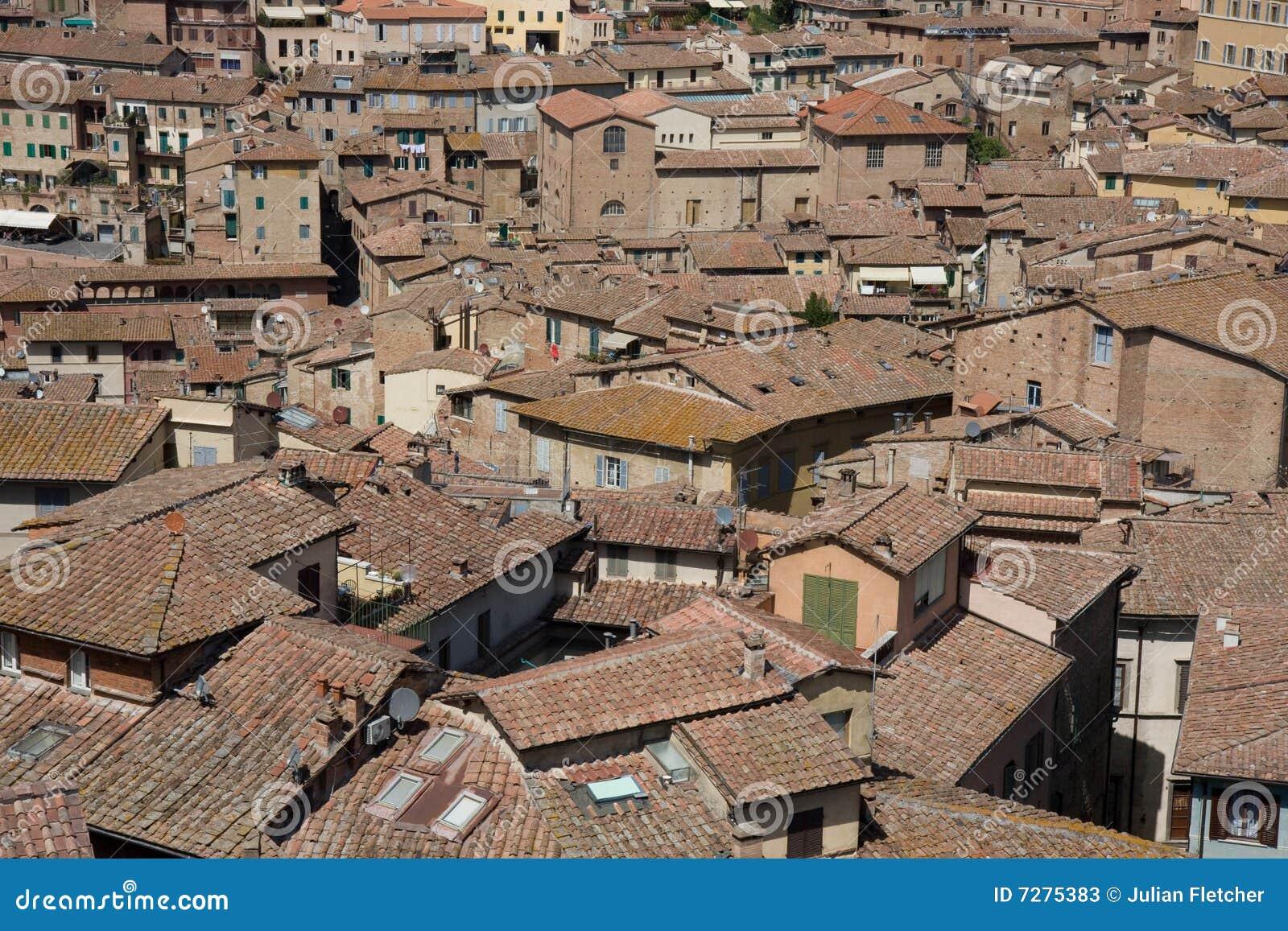 Tejados de la tierra de Siena