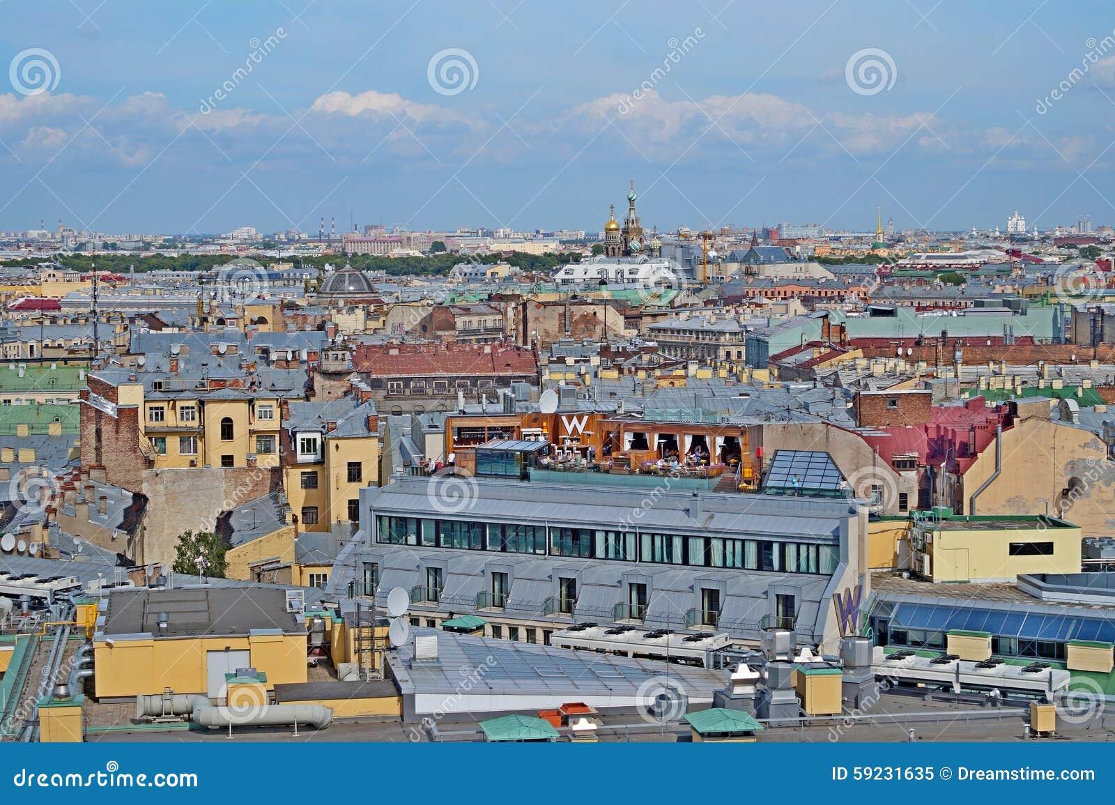Download Tejados de St Petersburg imagen editorial. Imagen de ciudad - 59231635