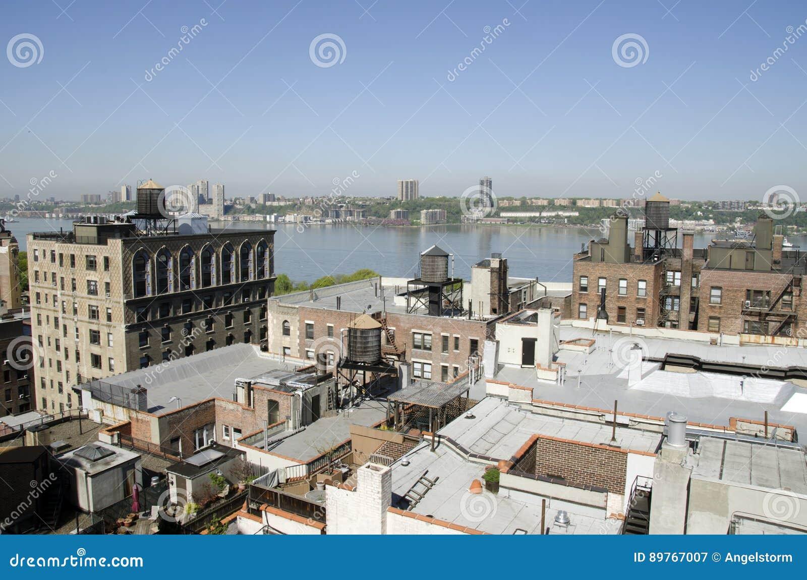 Tejados Y Terrazas En New York City Imagen De Archivo