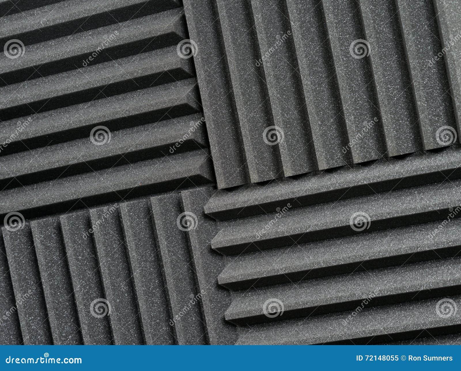 Tejas acústicas del estudio de grabación