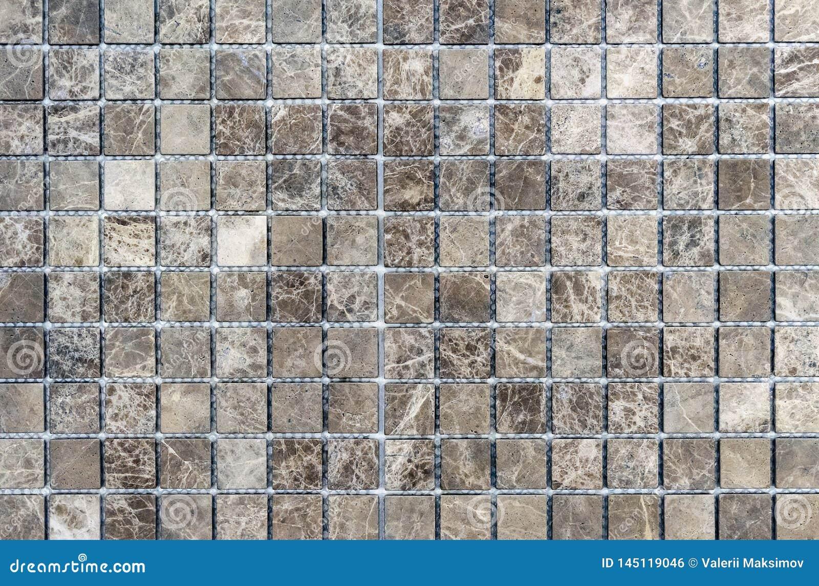Tejas de mosaico dentro del cuarto de ba?o Fondo de una teja de mosaico de cer?mica