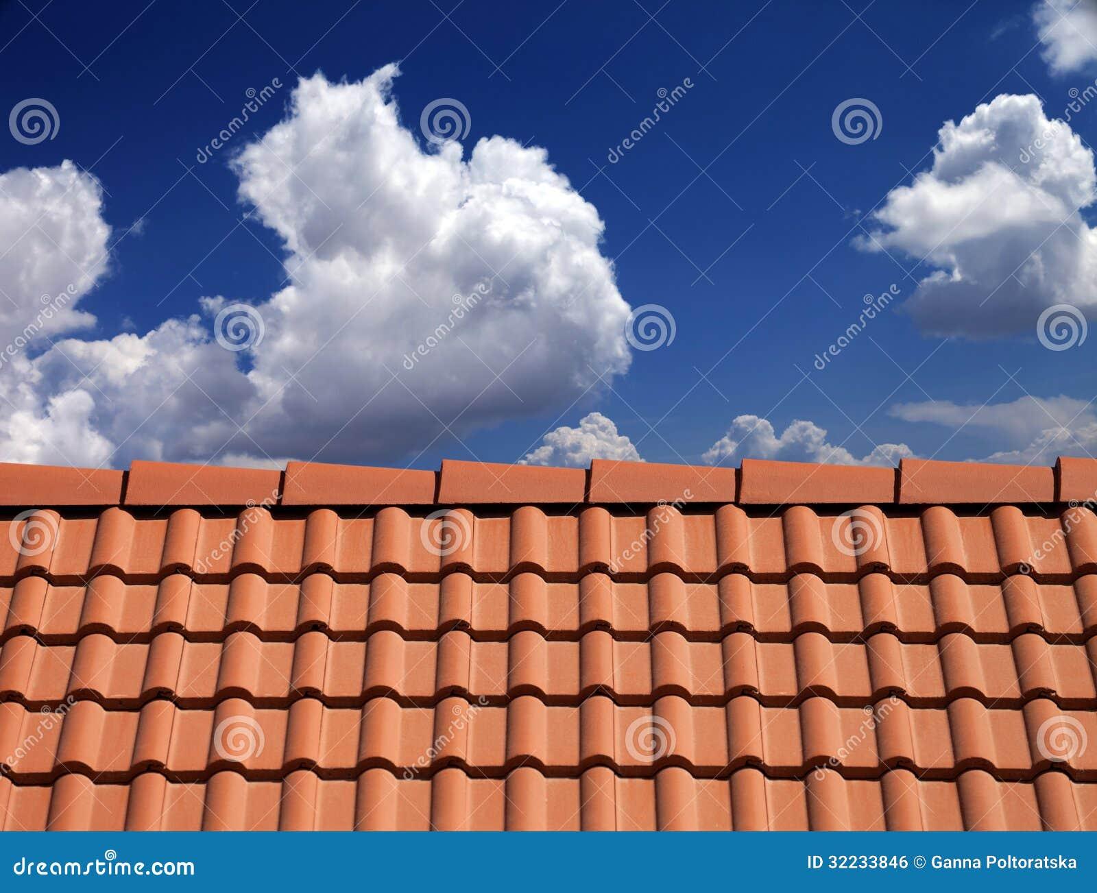 azul cielo tejado