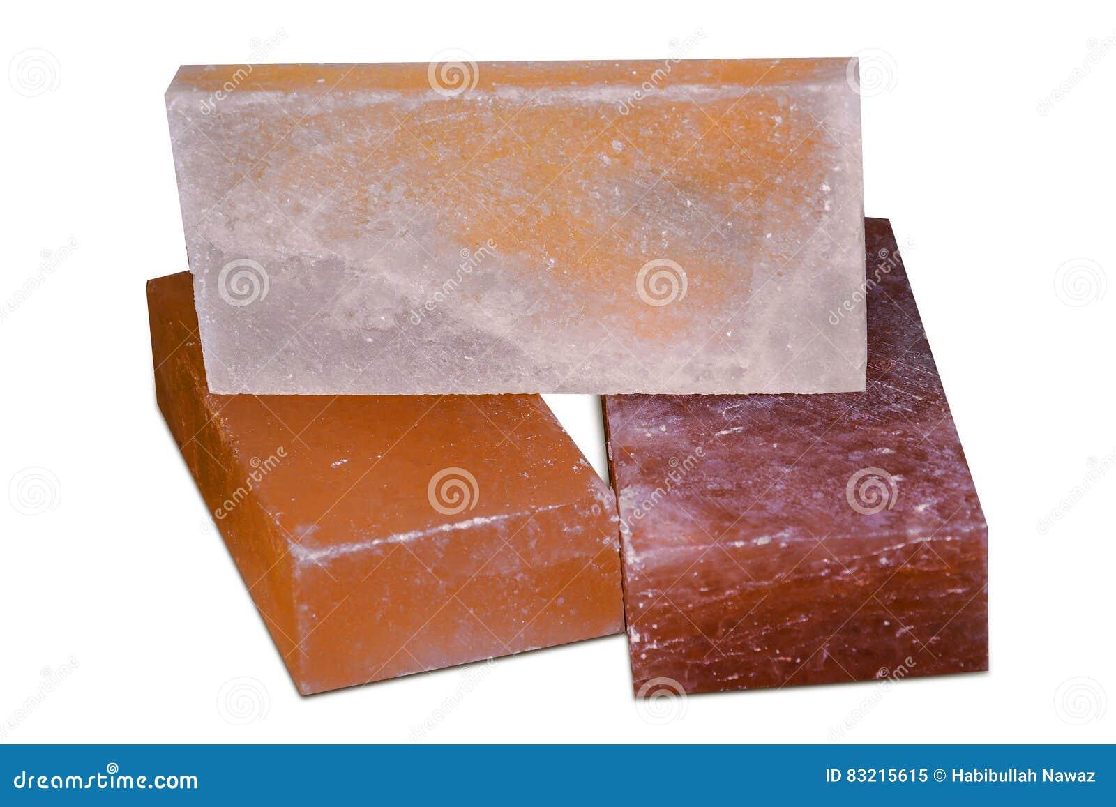 Tejas y ladrillos de la sal de roca