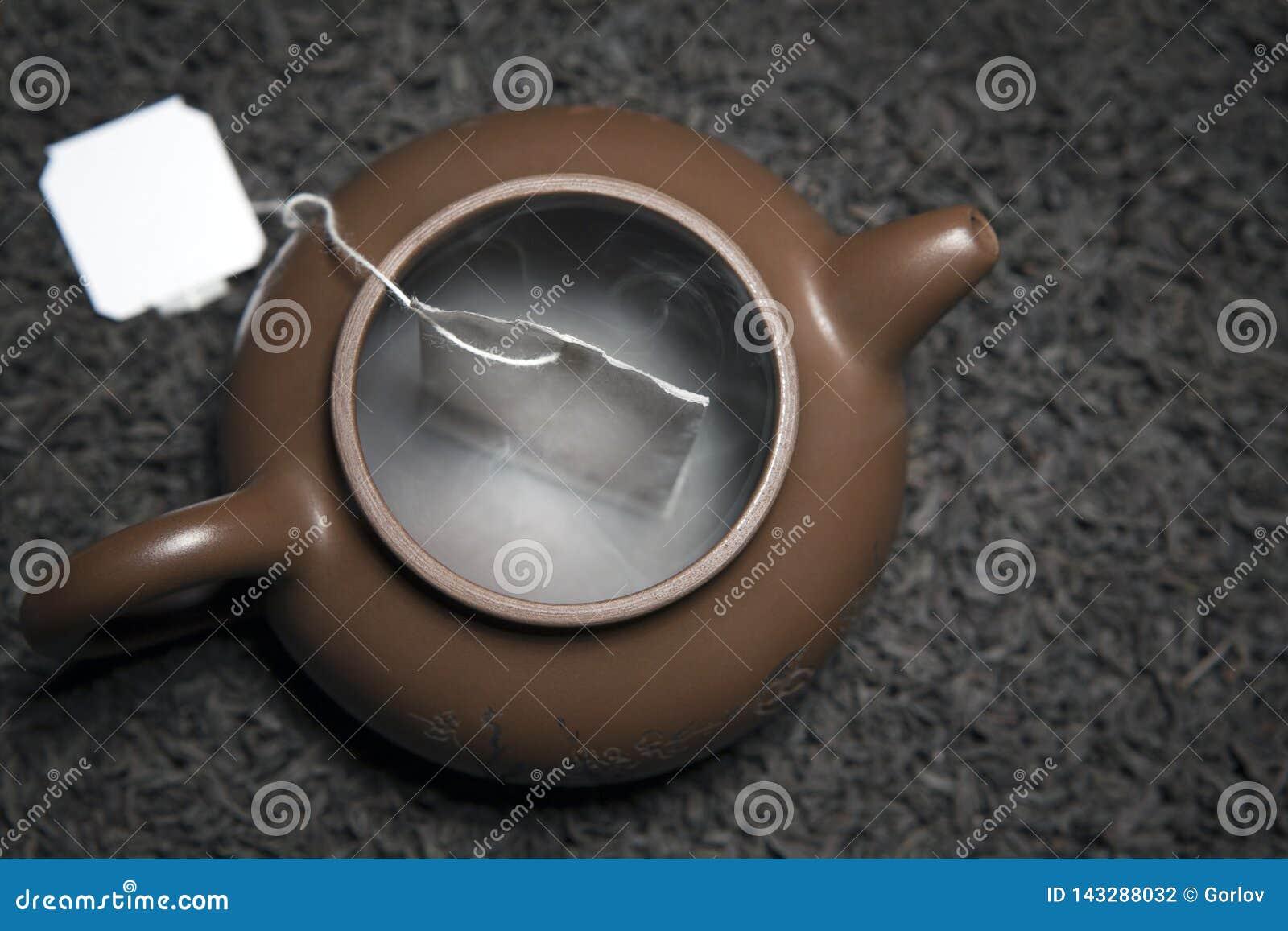 Tekannateabagen för svart te röker inget