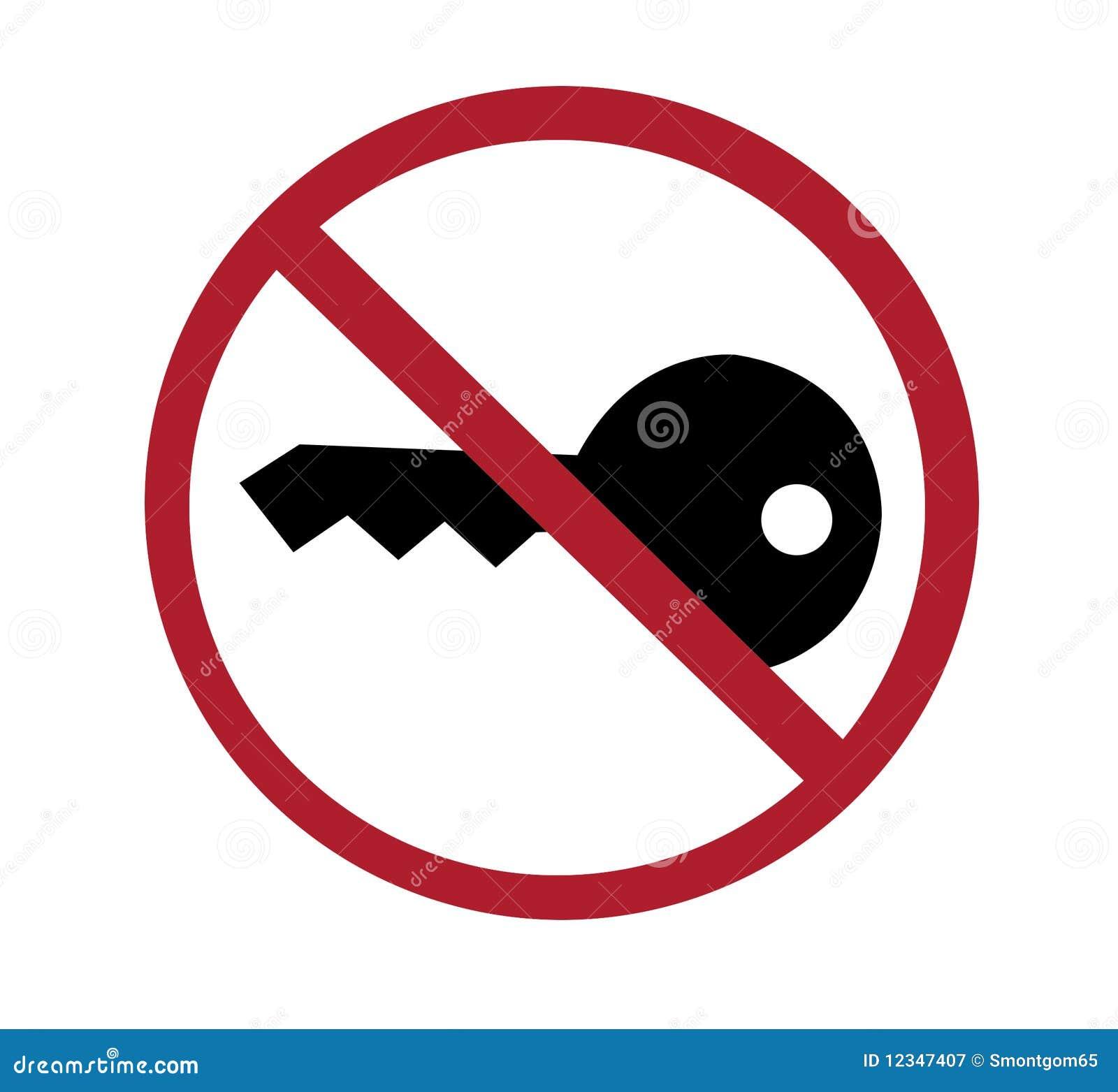 Teken Geen Sleutel Draai Van Motor Stock Afbeelding Afbeelding