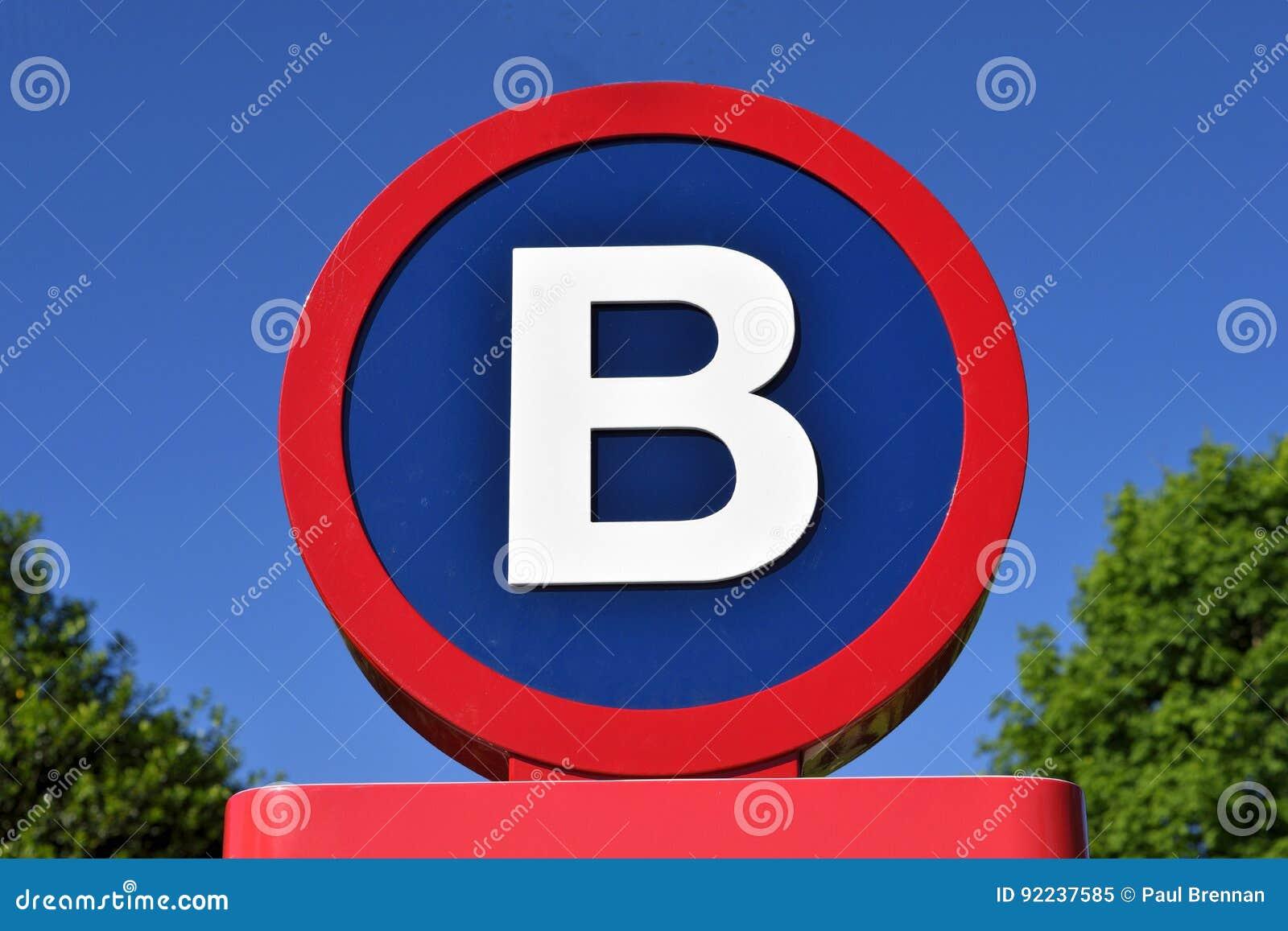 Teken met de brief B