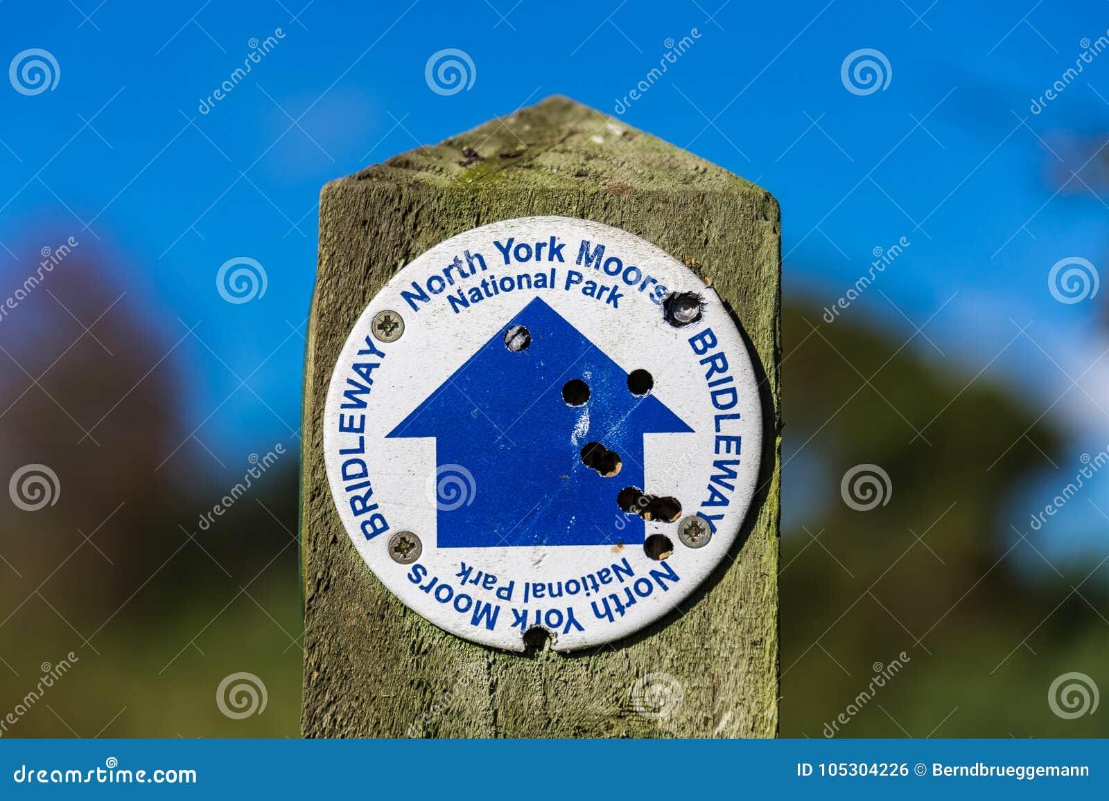Teken: Noord-York legt, Bridleway vast