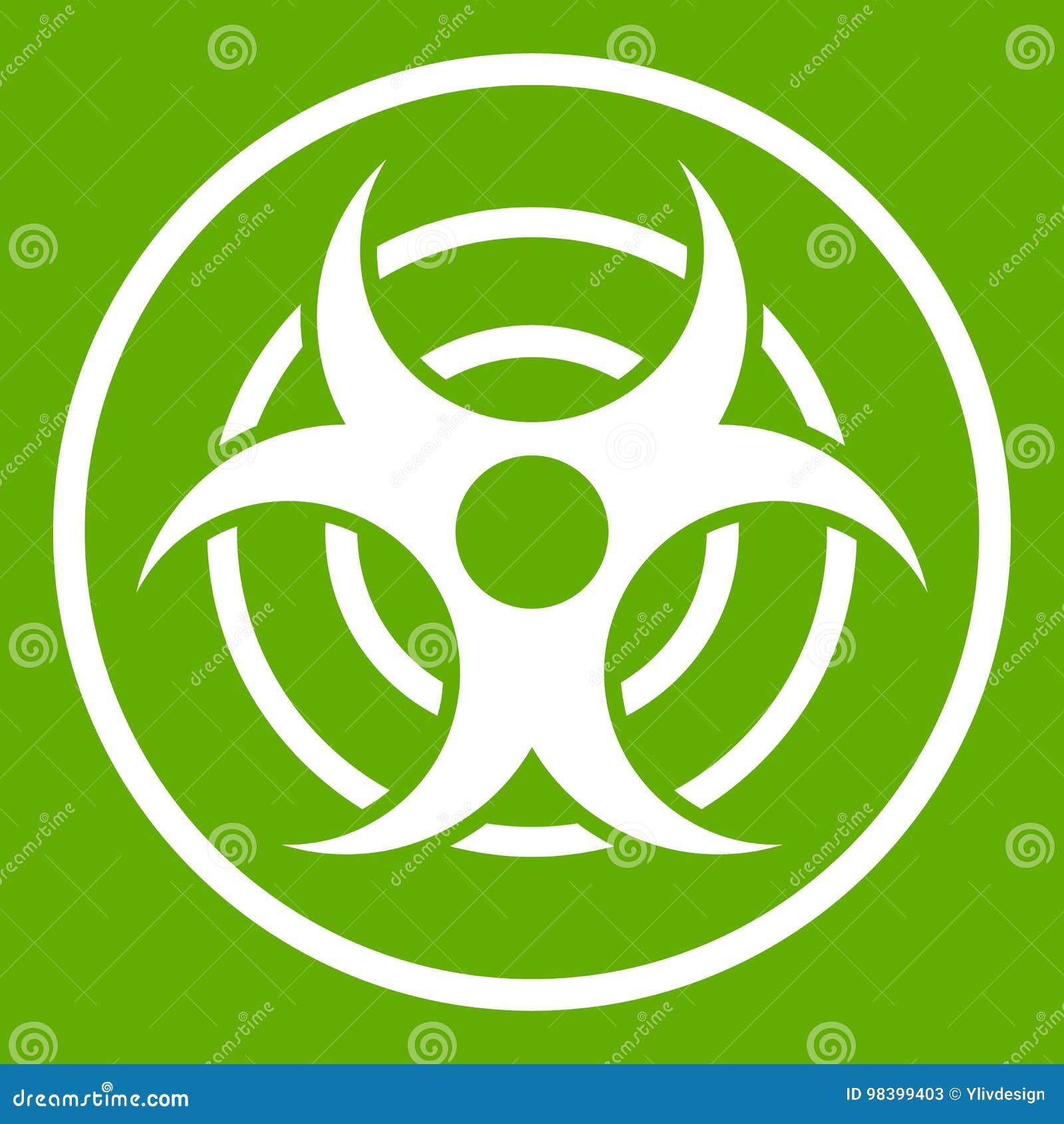 Teken van biologisch groen bedreigingspictogram