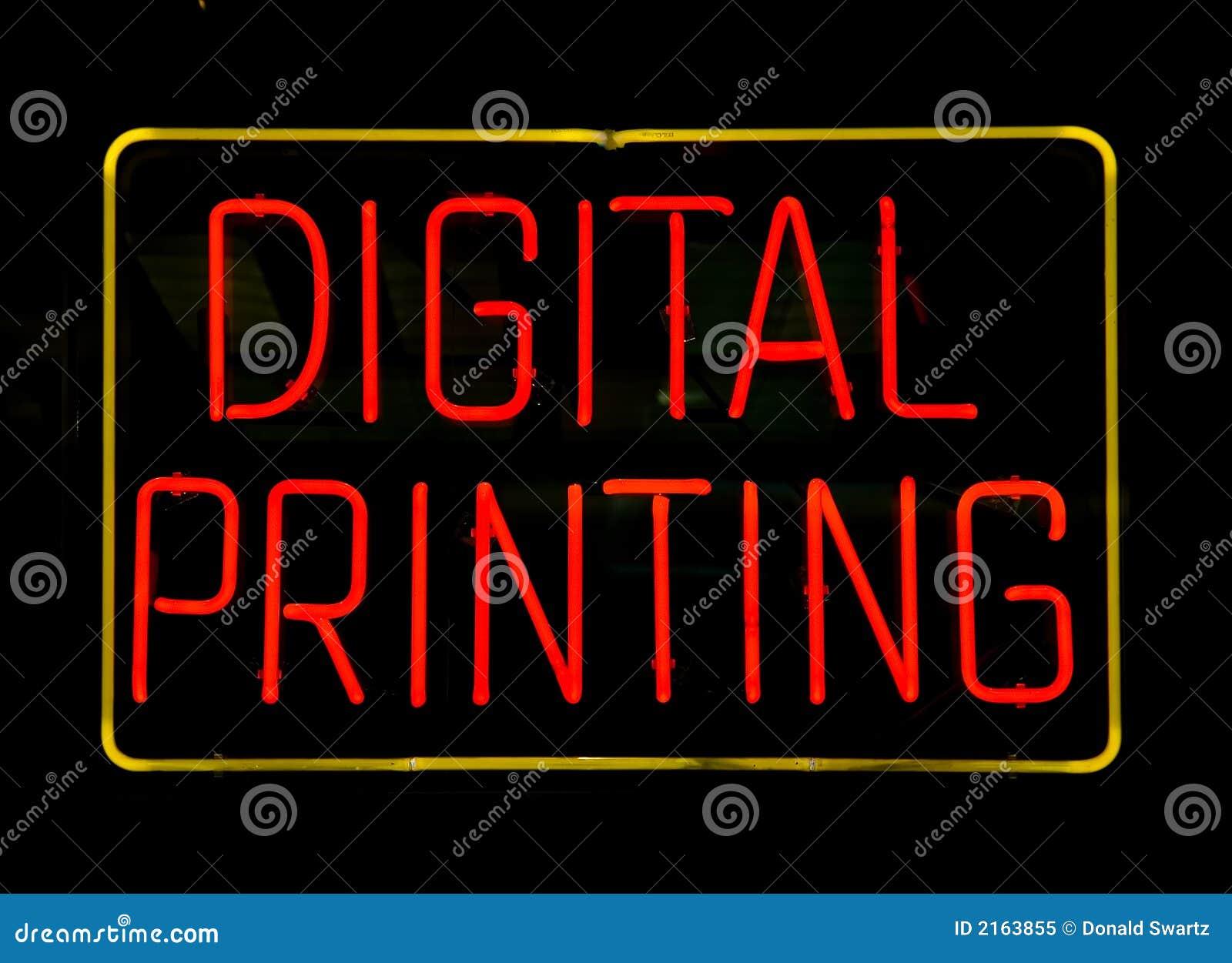 Teken van de Druk van het neon het Digitale