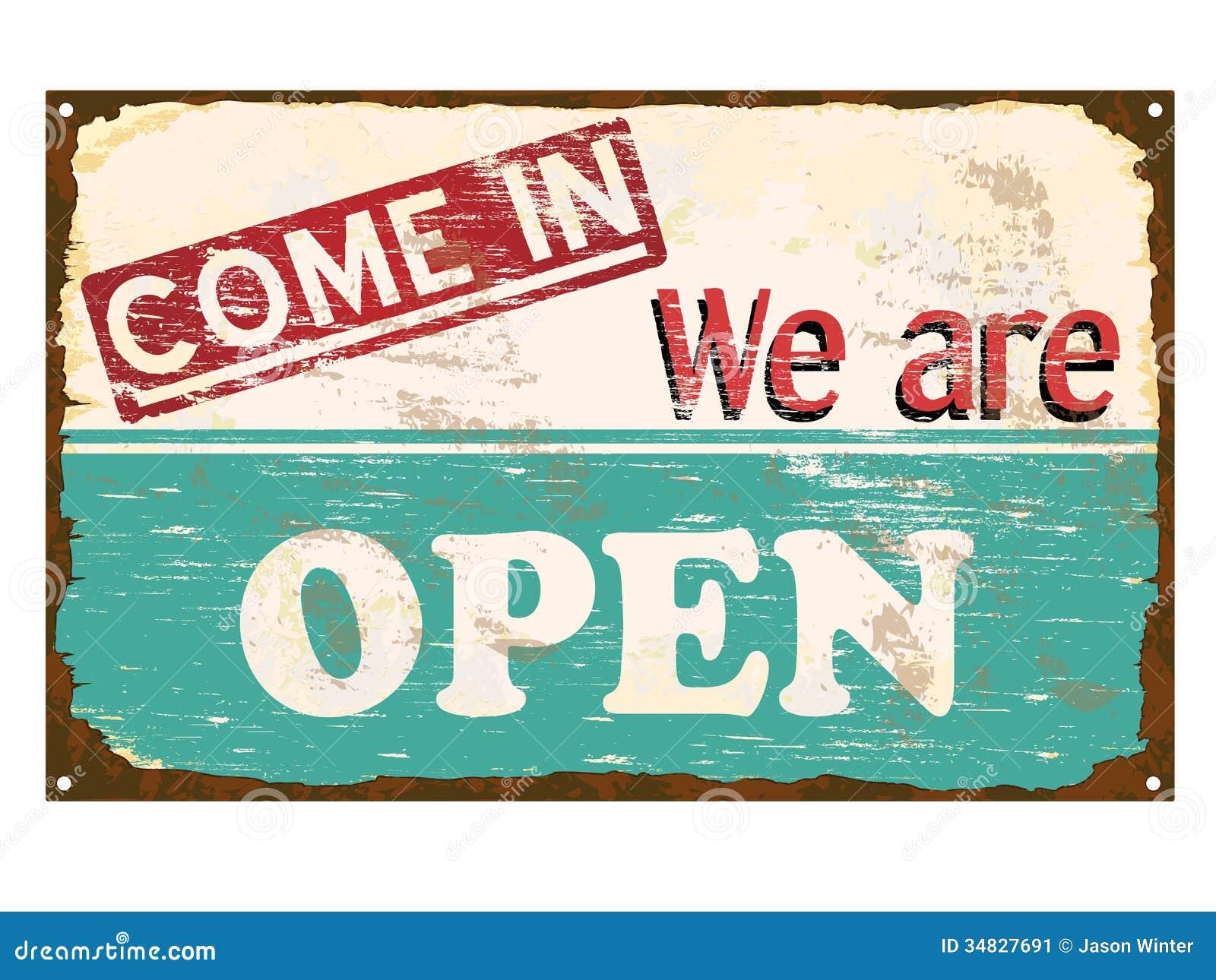 Teken Van Het Winkel Het Open Email Vector Illustratie ...