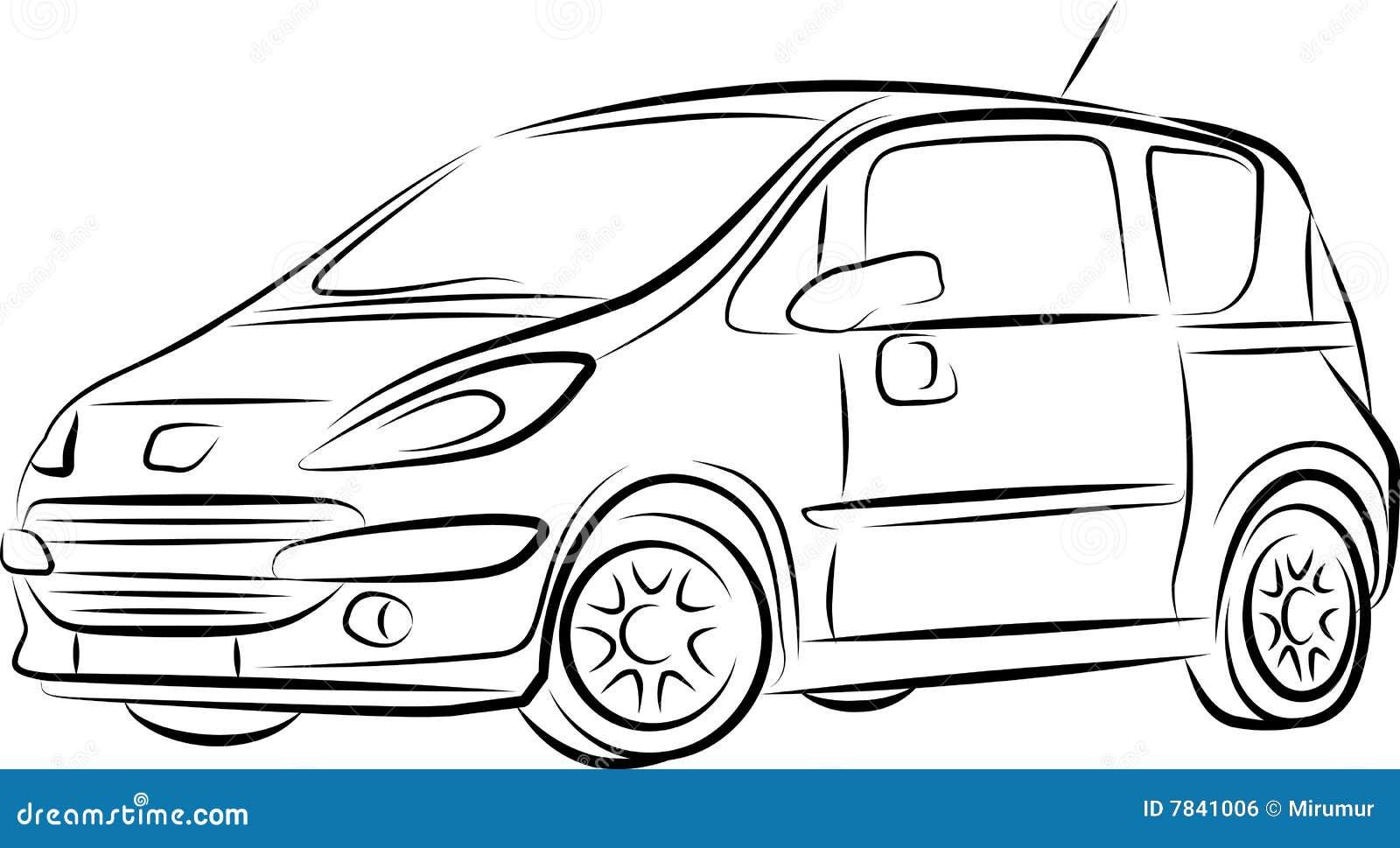 tekening de auto stock illustratie illustratie